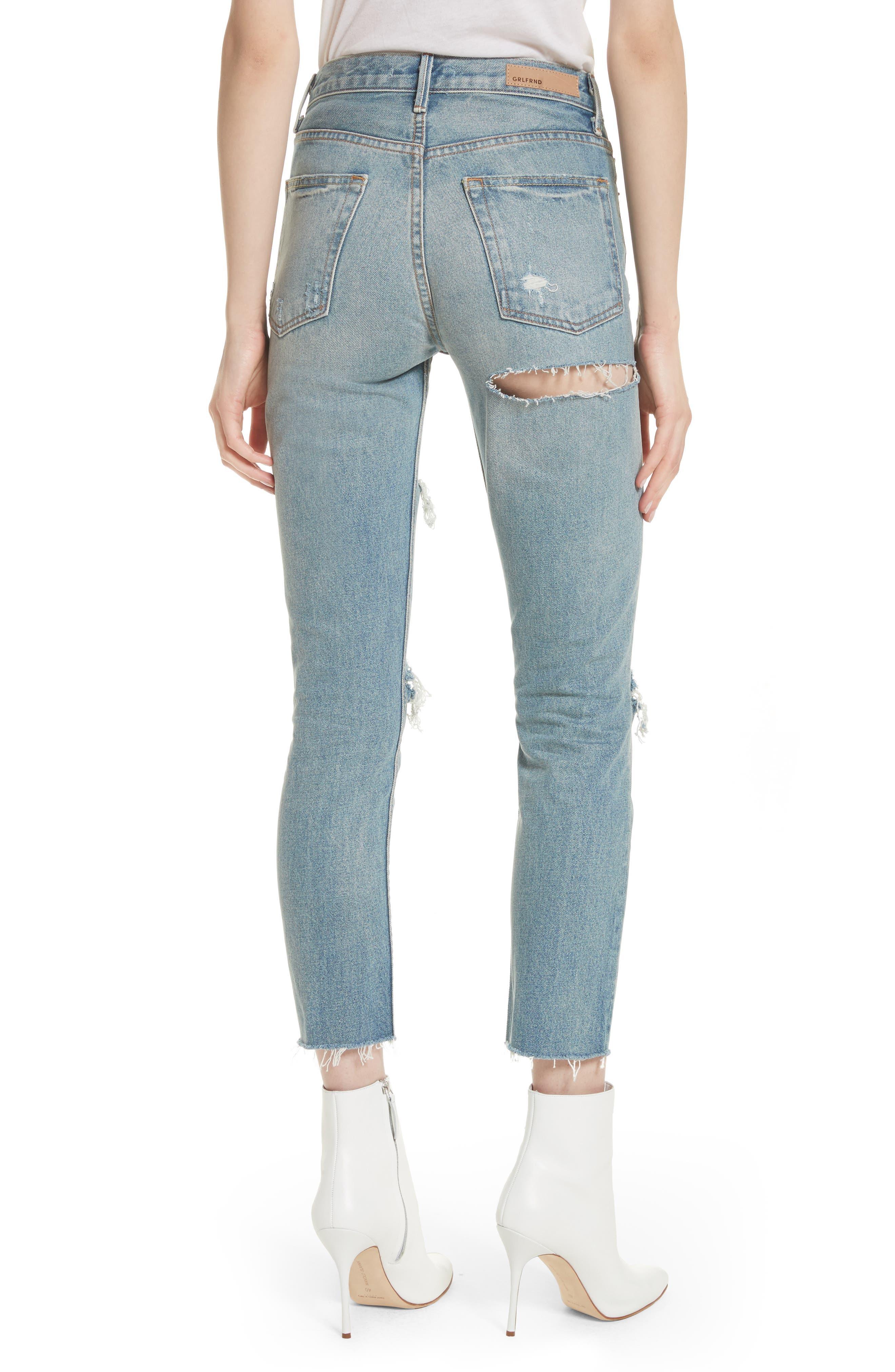 Karolina Ripped Rigid High Waist Skinny Jeans,                             Alternate thumbnail 2, color,                             A Little More Love
