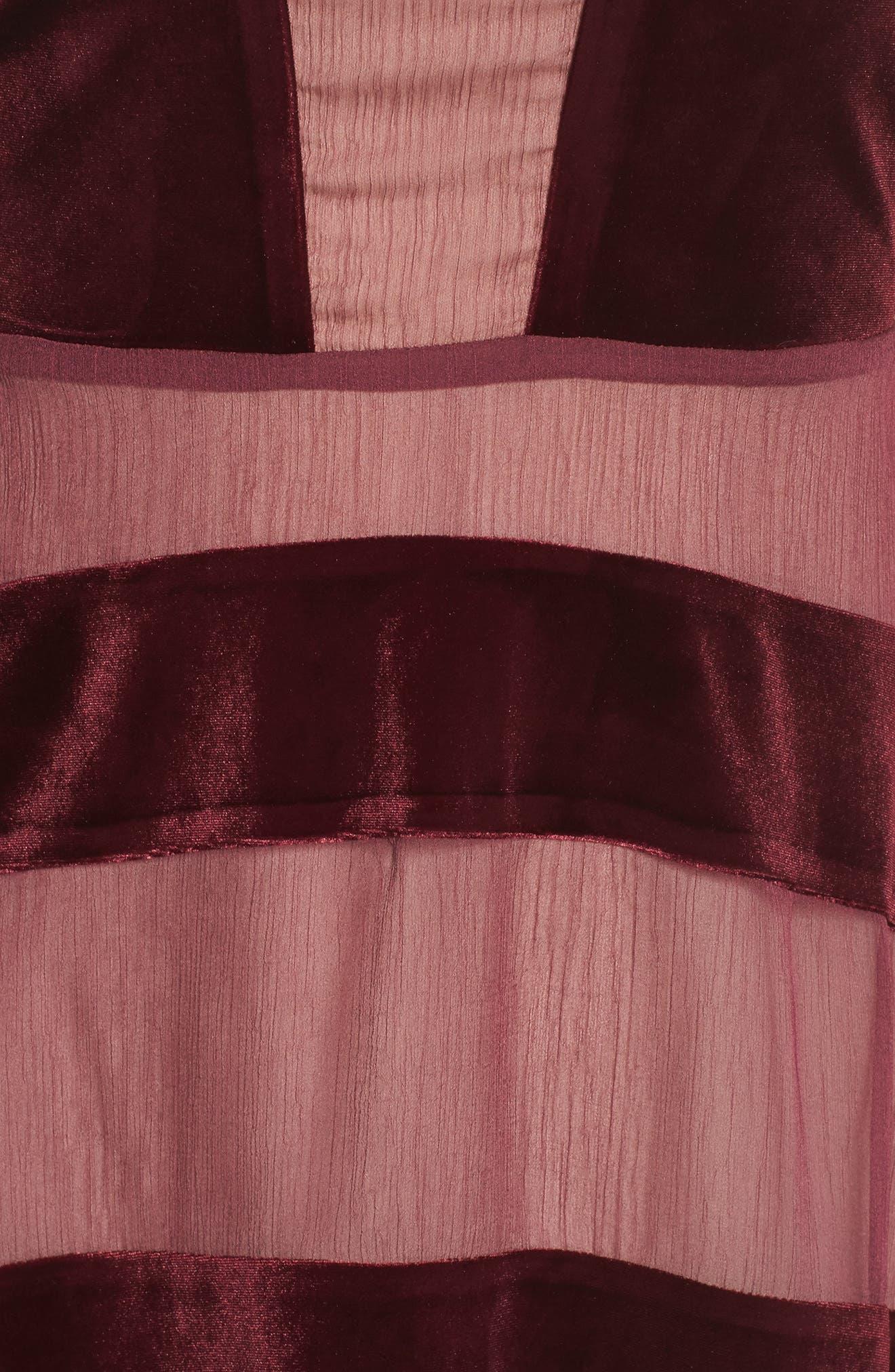 Alternate Image 5  - Foxiedox Dante Velvet & Gauze Halter Dress