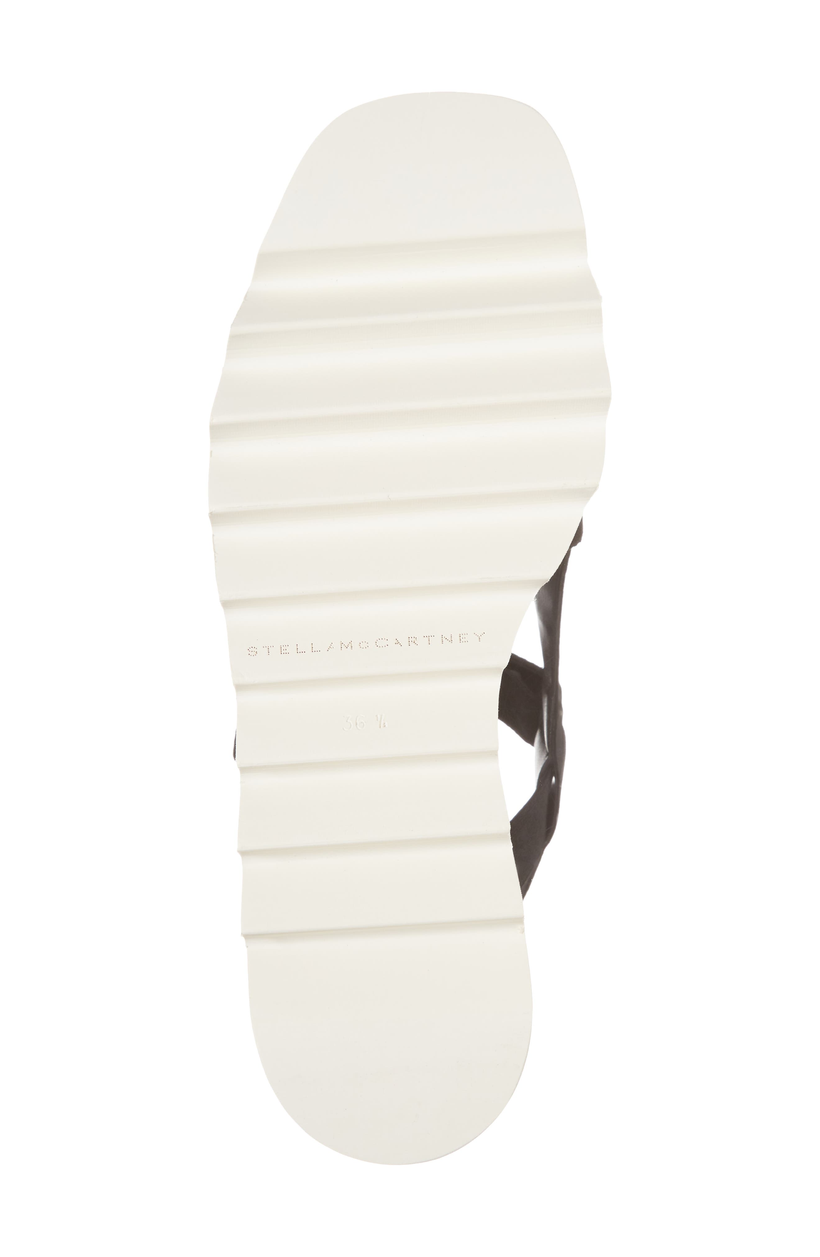 Stripe Platform Sandal,                             Alternate thumbnail 6, color,                             Black/ White