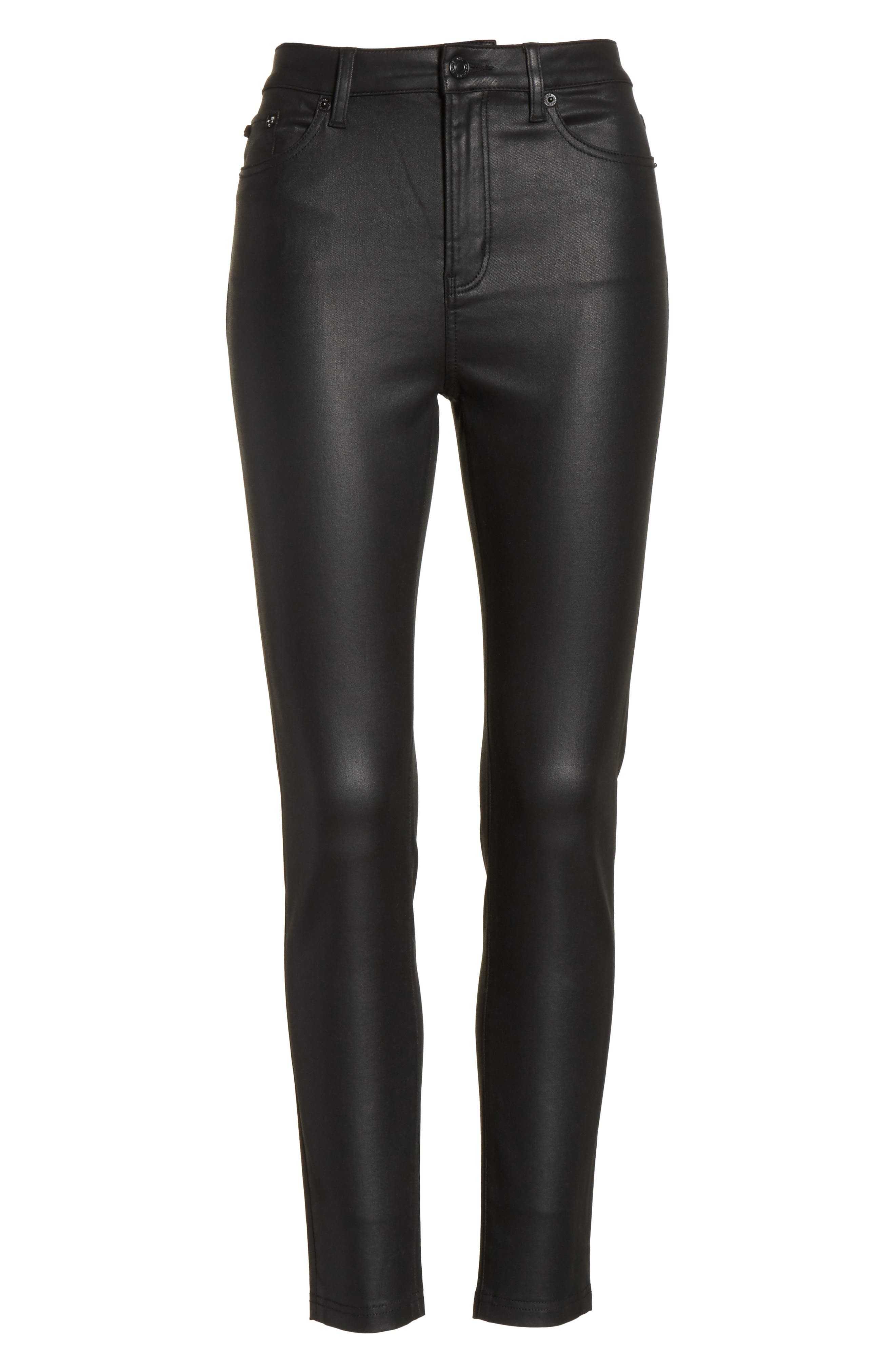 Alternate Image 6  - The Kooples Coated Stretch Ankle Skinny Jeans