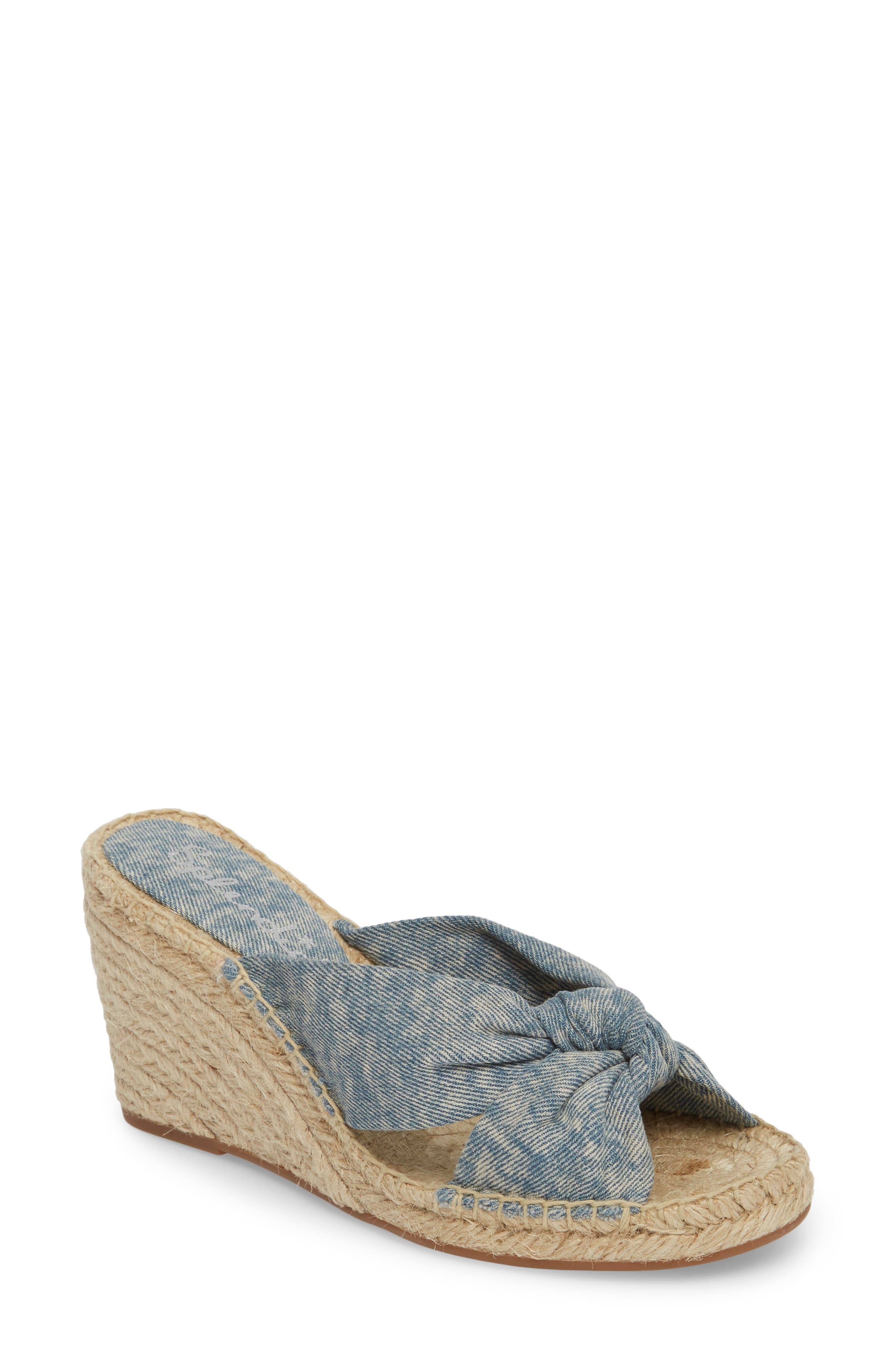 Alternate Image 1 Selected - Splendid Bautista Knotted Wedge Sandal (Women)
