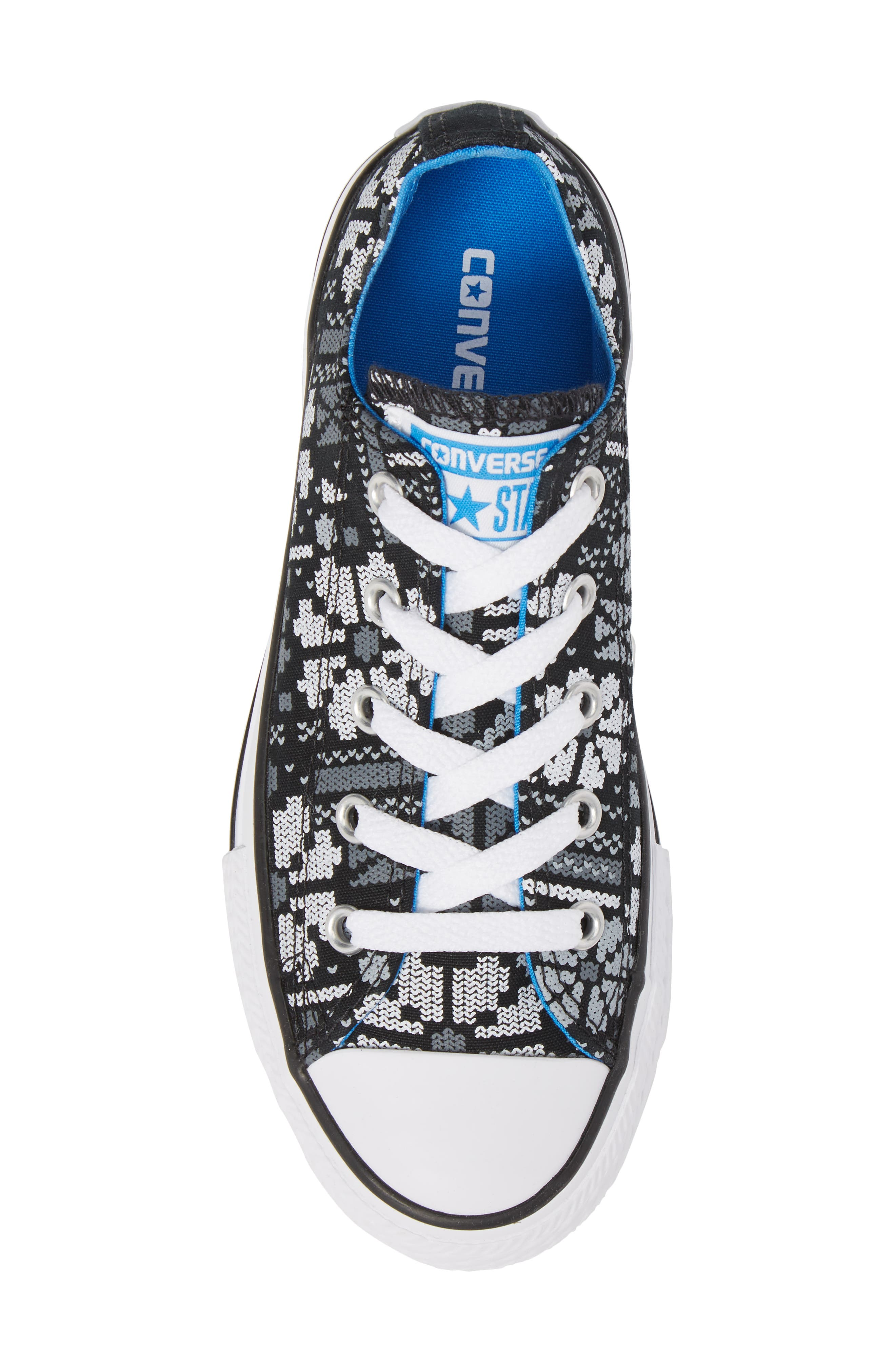 Chuck Taylor<sup>®</sup> All Star<sup>®</sup> Winter Ox Sneaker,                             Alternate thumbnail 5, color,                             Black Canvas