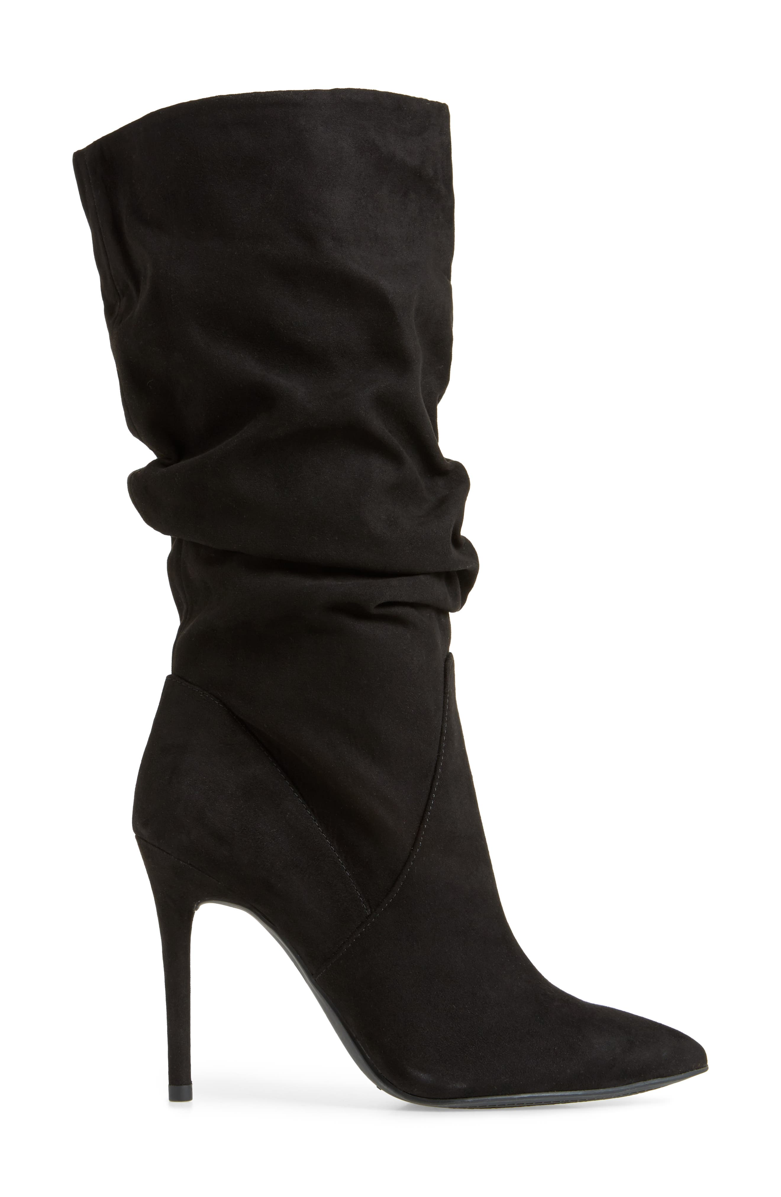Lyndy Slouch Boot,                             Alternate thumbnail 3, color,                             Black