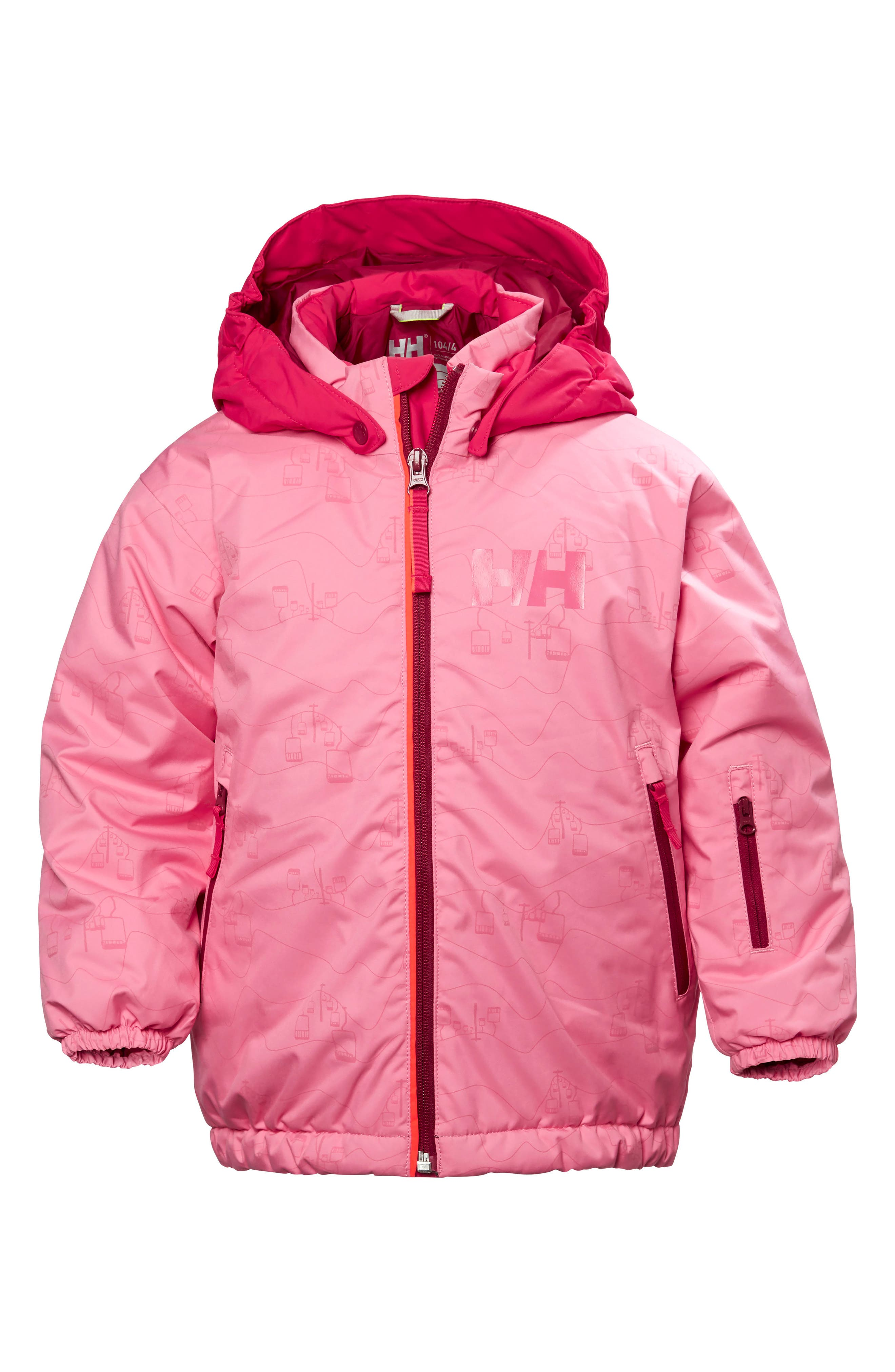 Snowfall Waterproof Insulated Jacket,                         Main,                         color, Pink Carnation