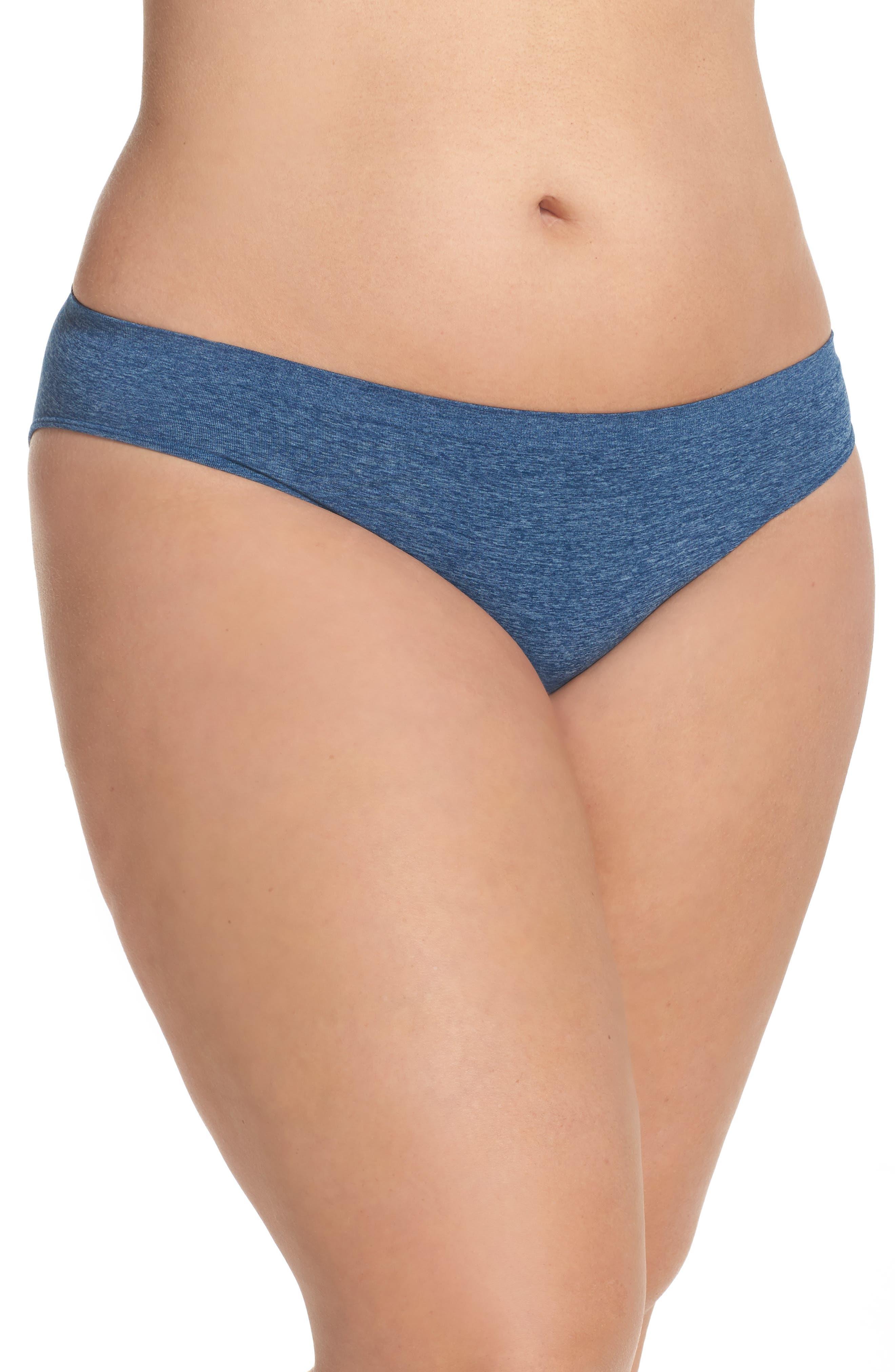 Alternate Image 1 Selected - Halogen® Seamless Bikini (Plus Size) (3 for $33)
