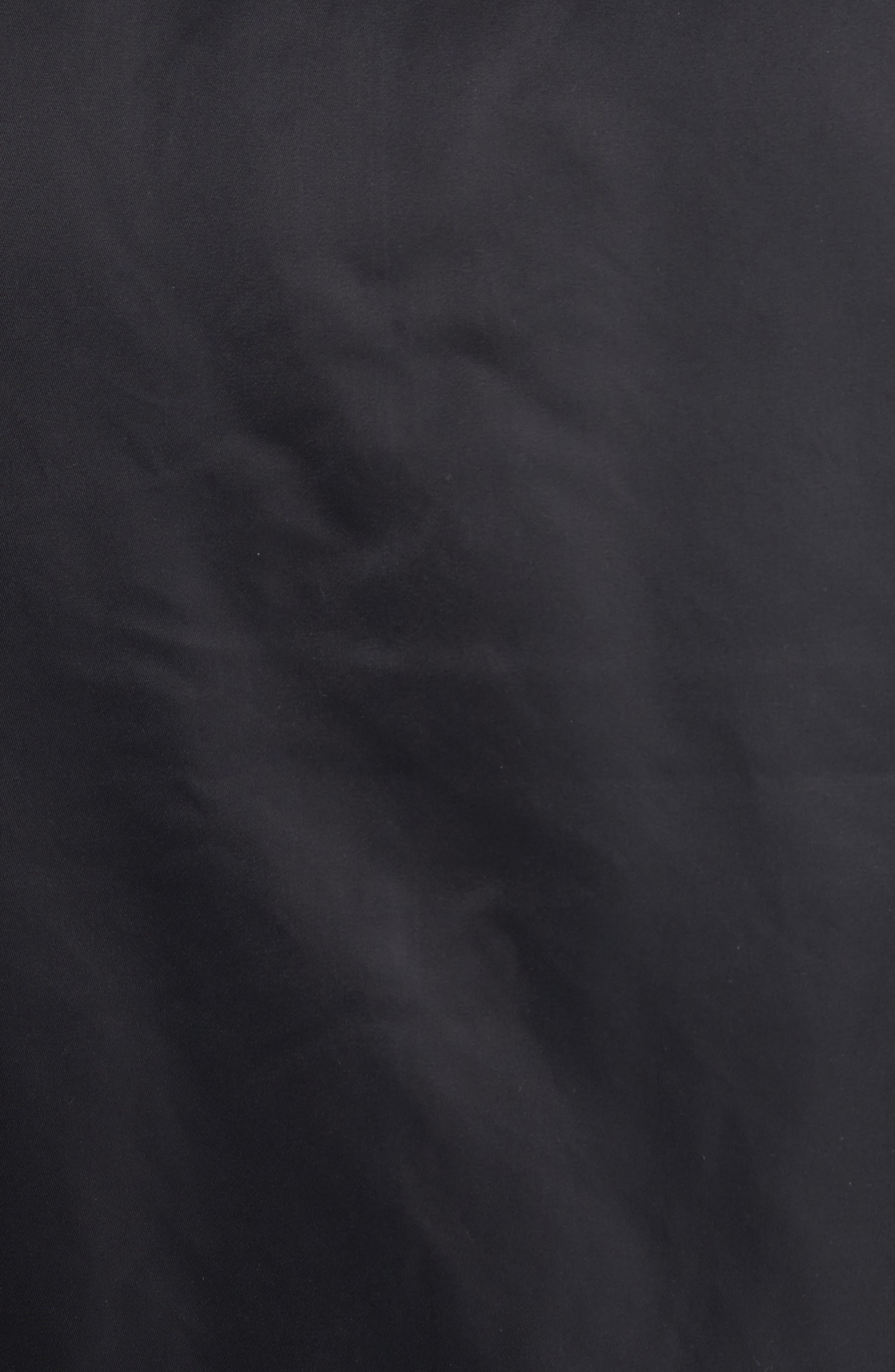 Ashton Bomber Jacket,                             Alternate thumbnail 5, color,                             Black/ Black