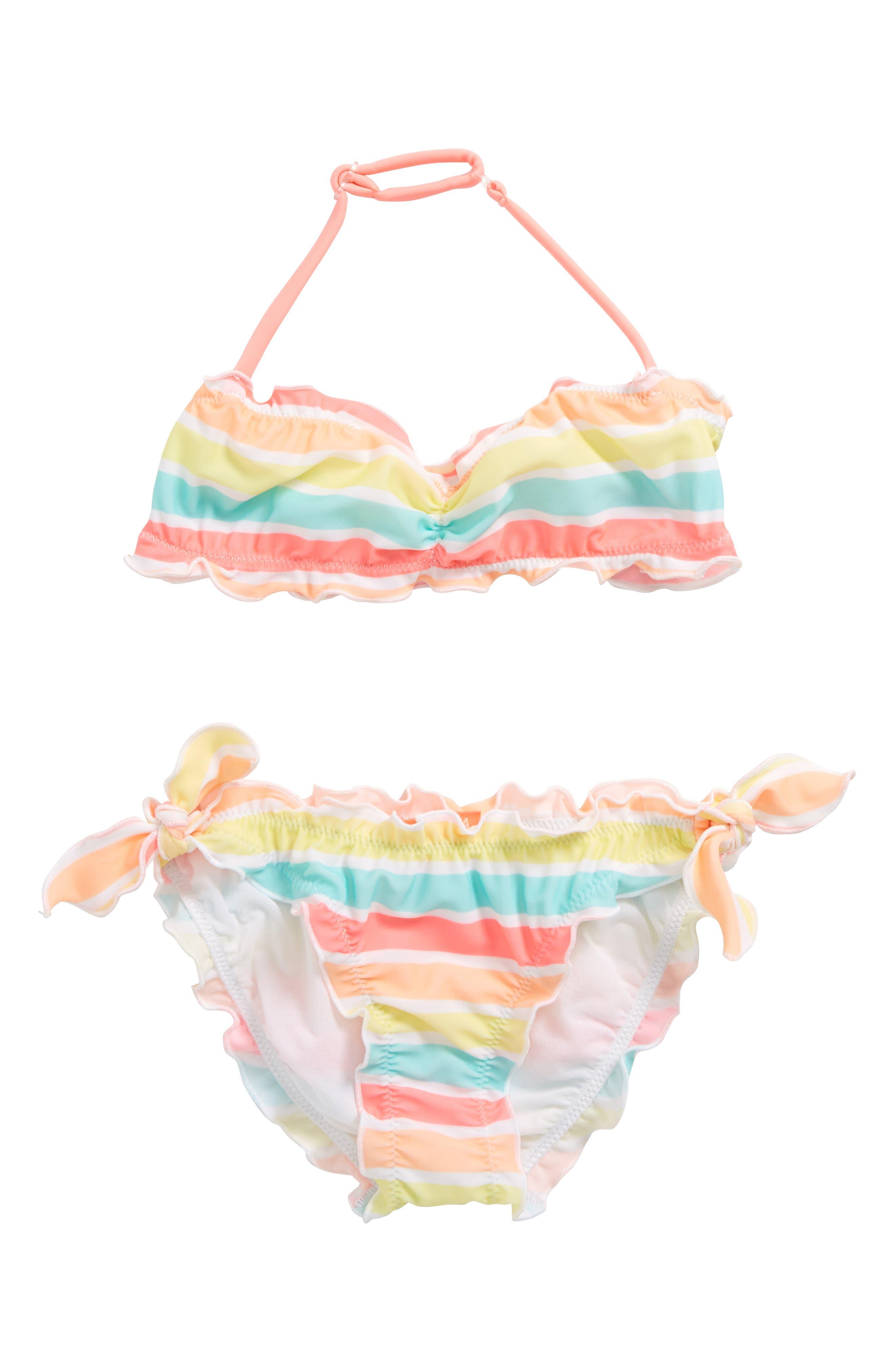 Sorbet Stripe Two-Piece Swimsuit,                             Main thumbnail 1, color,                             Sorbet Stripe