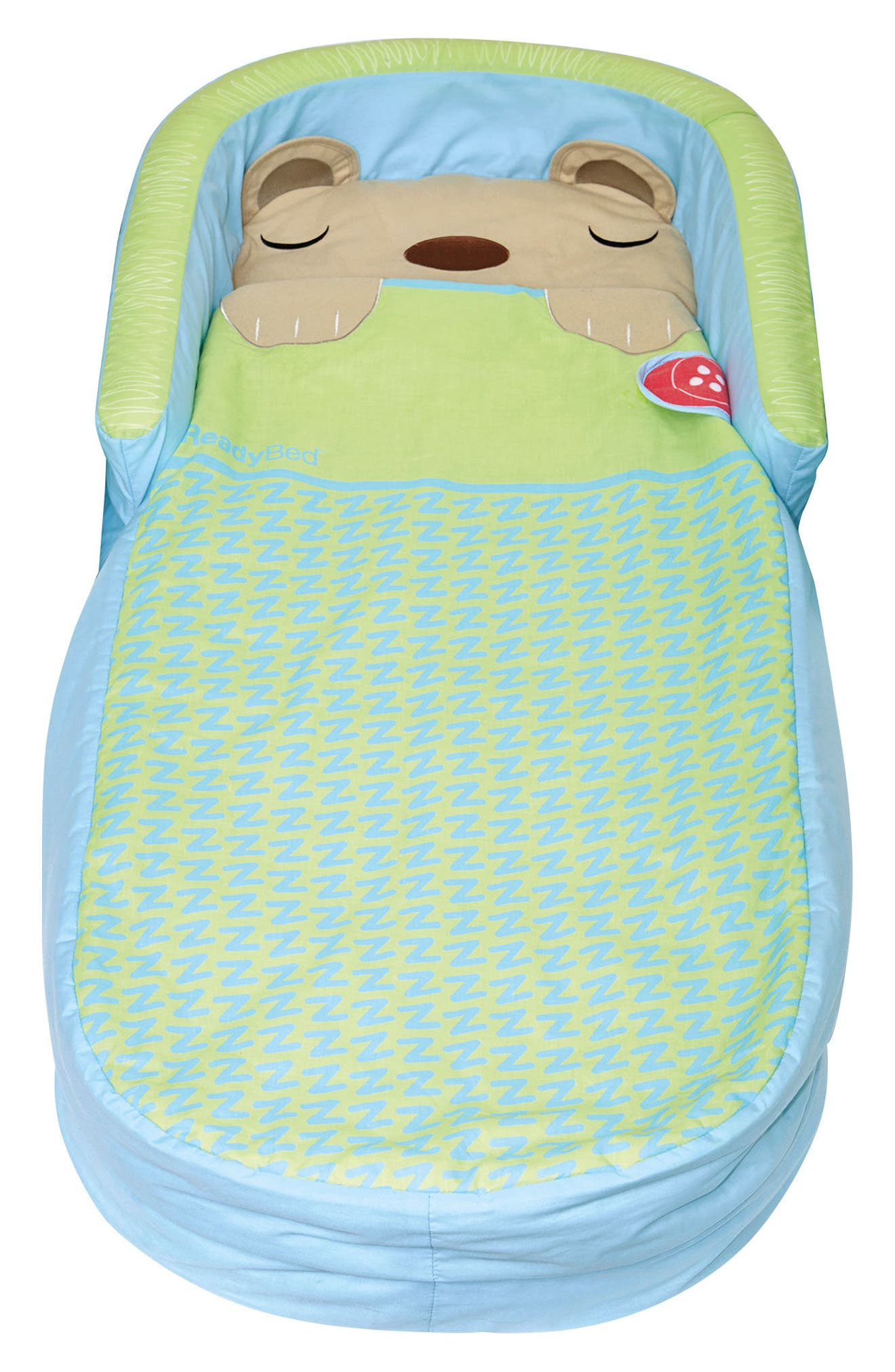 Main Image - Diggin Bear Hug My First Ready Bed Inflatable Bed & Cover Set
