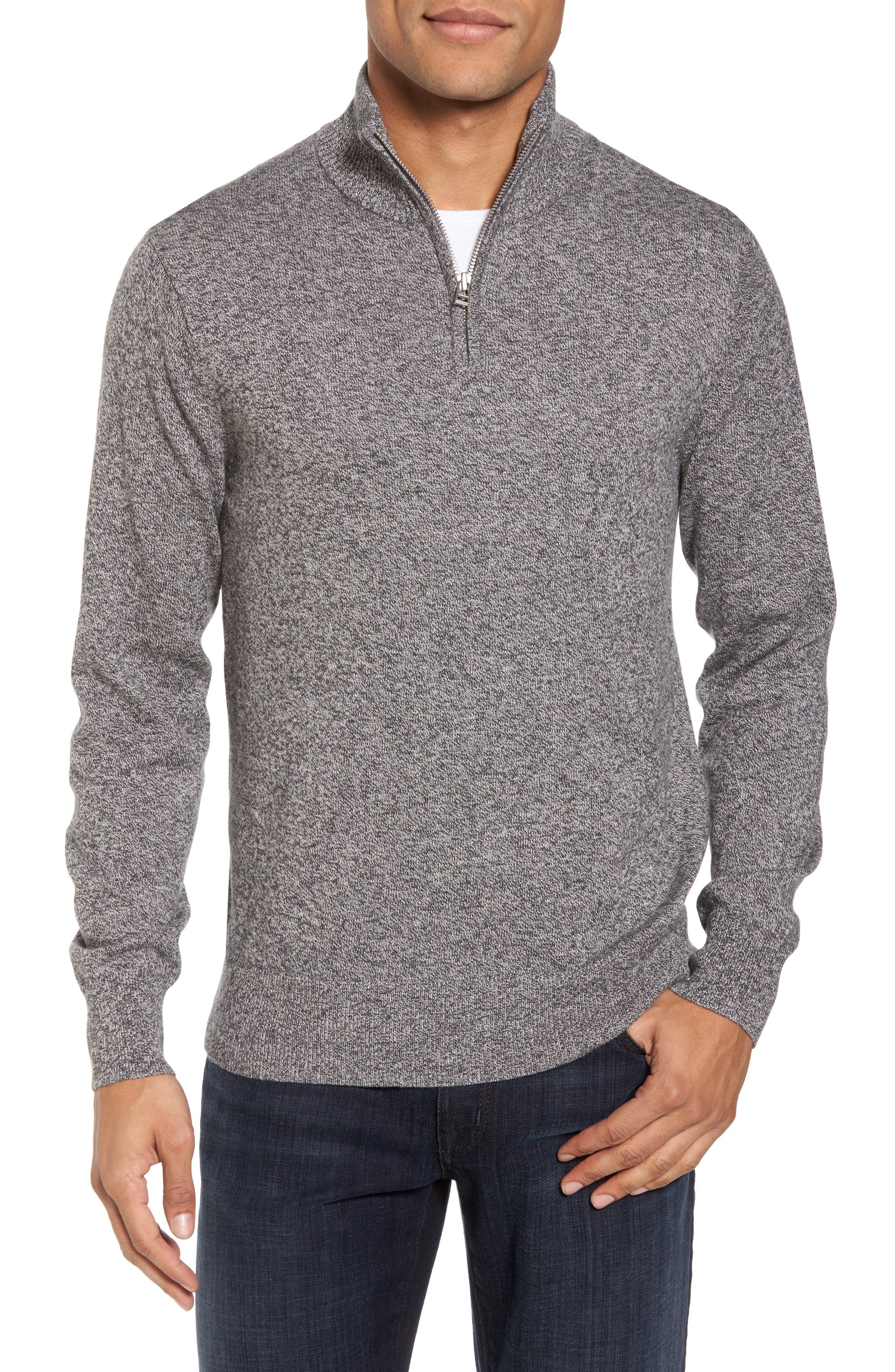 Bonobos Cotton & Cashmere Quarter Zip Sweater