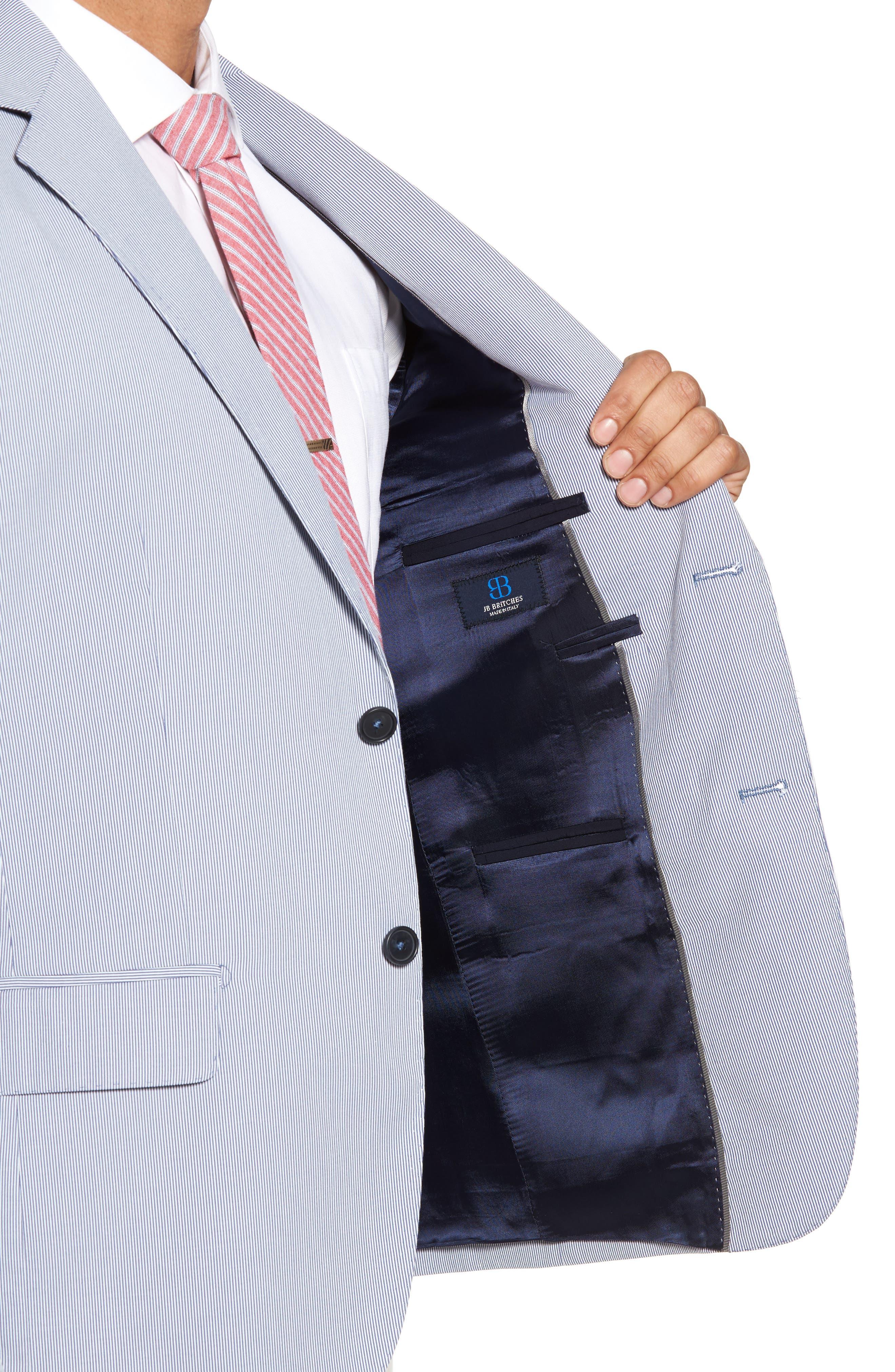 Classic Fit Stripe Sport Coat,                             Alternate thumbnail 4, color,                             Navy