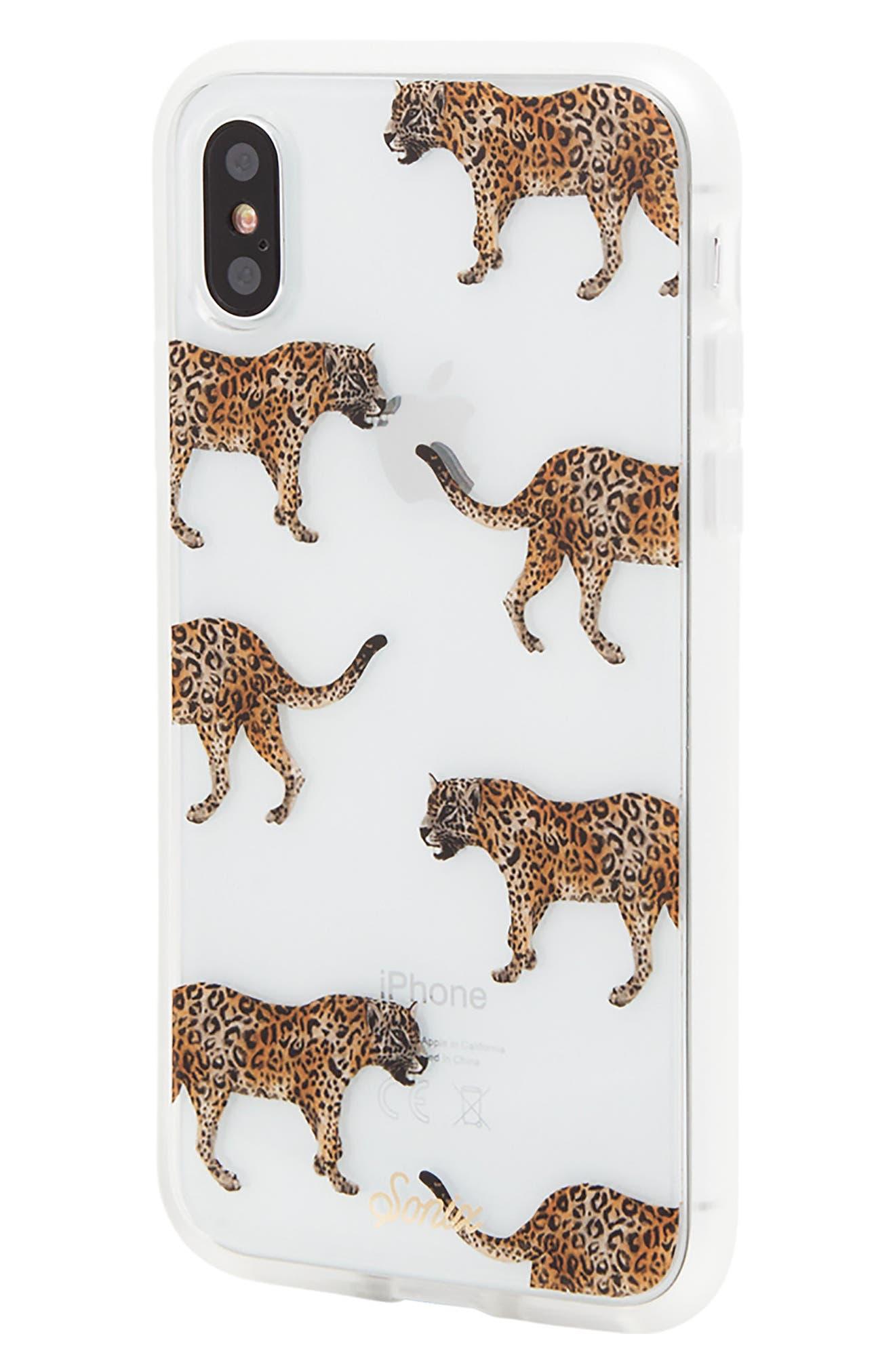 Deco Leopard iPhone X Case,                             Alternate thumbnail 2, color,                             Brown/ Black