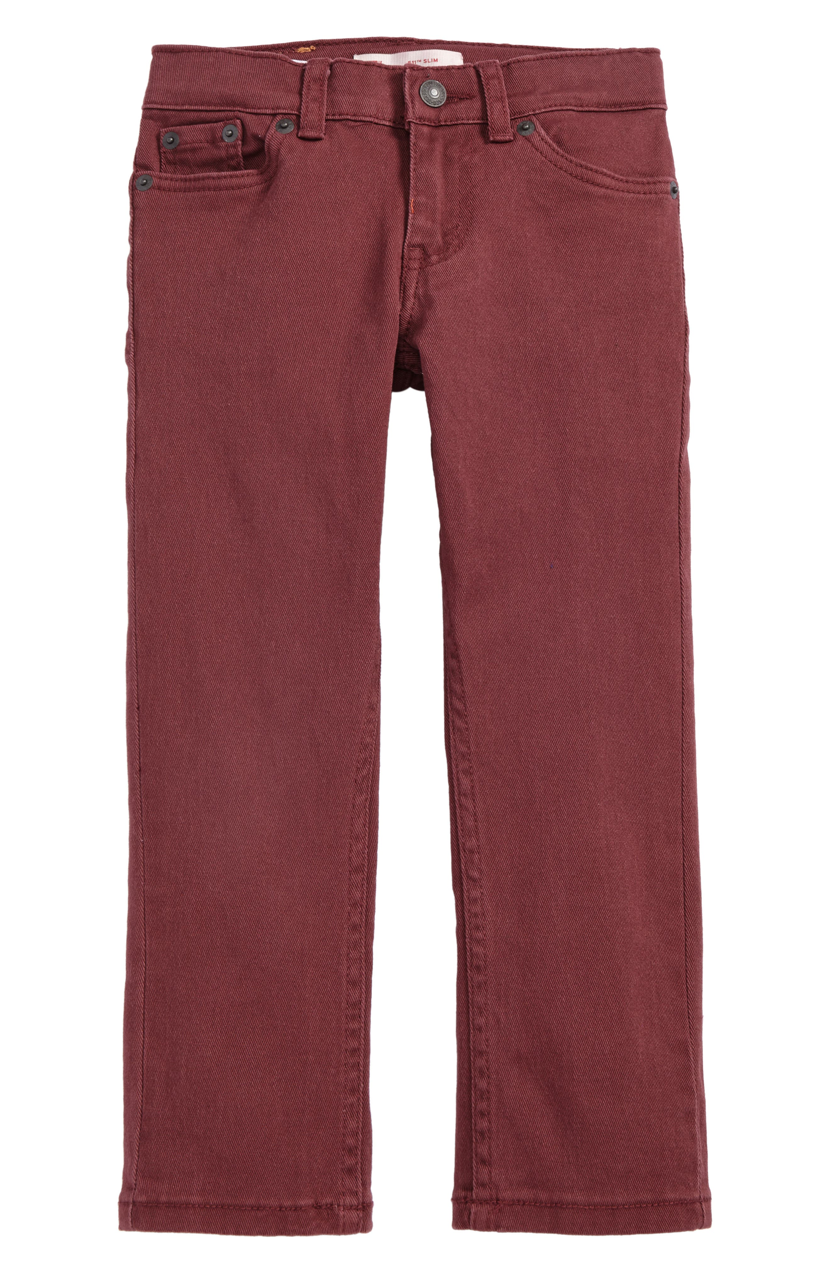511<sup>™</sup> Slim Fit Jeans,                         Main,                         color, Red Mahogany