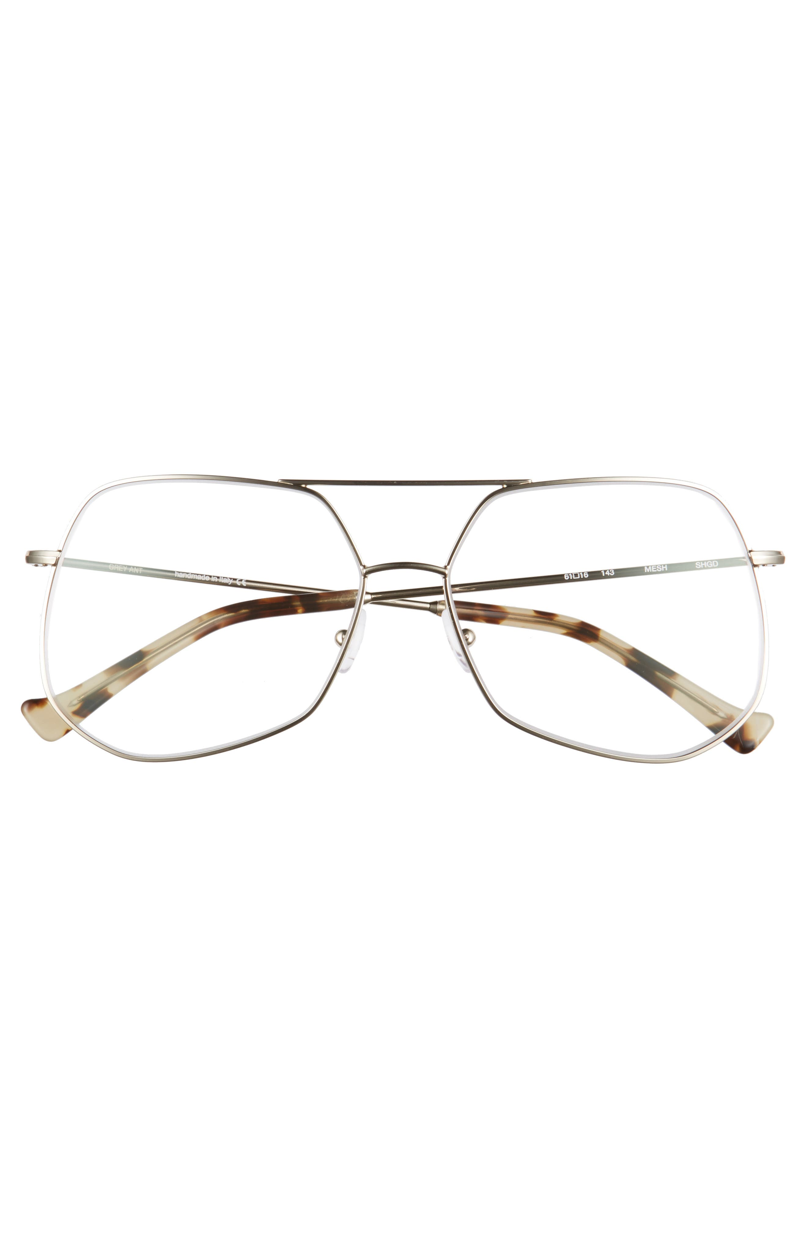 Mesh 61mm Optical Glasses,                             Alternate thumbnail 3, color,                             Gold