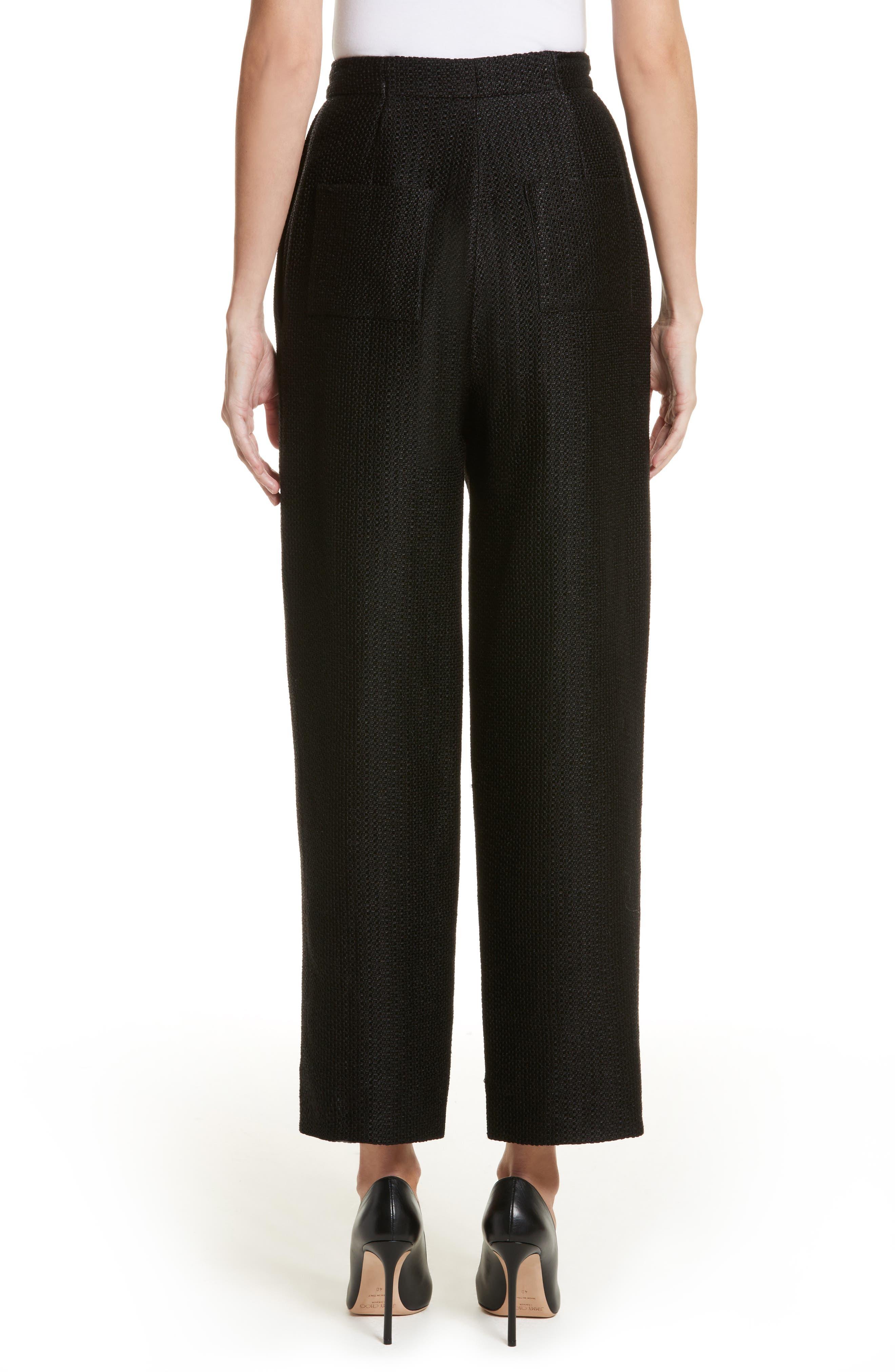 Tweed Pants,                             Alternate thumbnail 2, color,                             Black