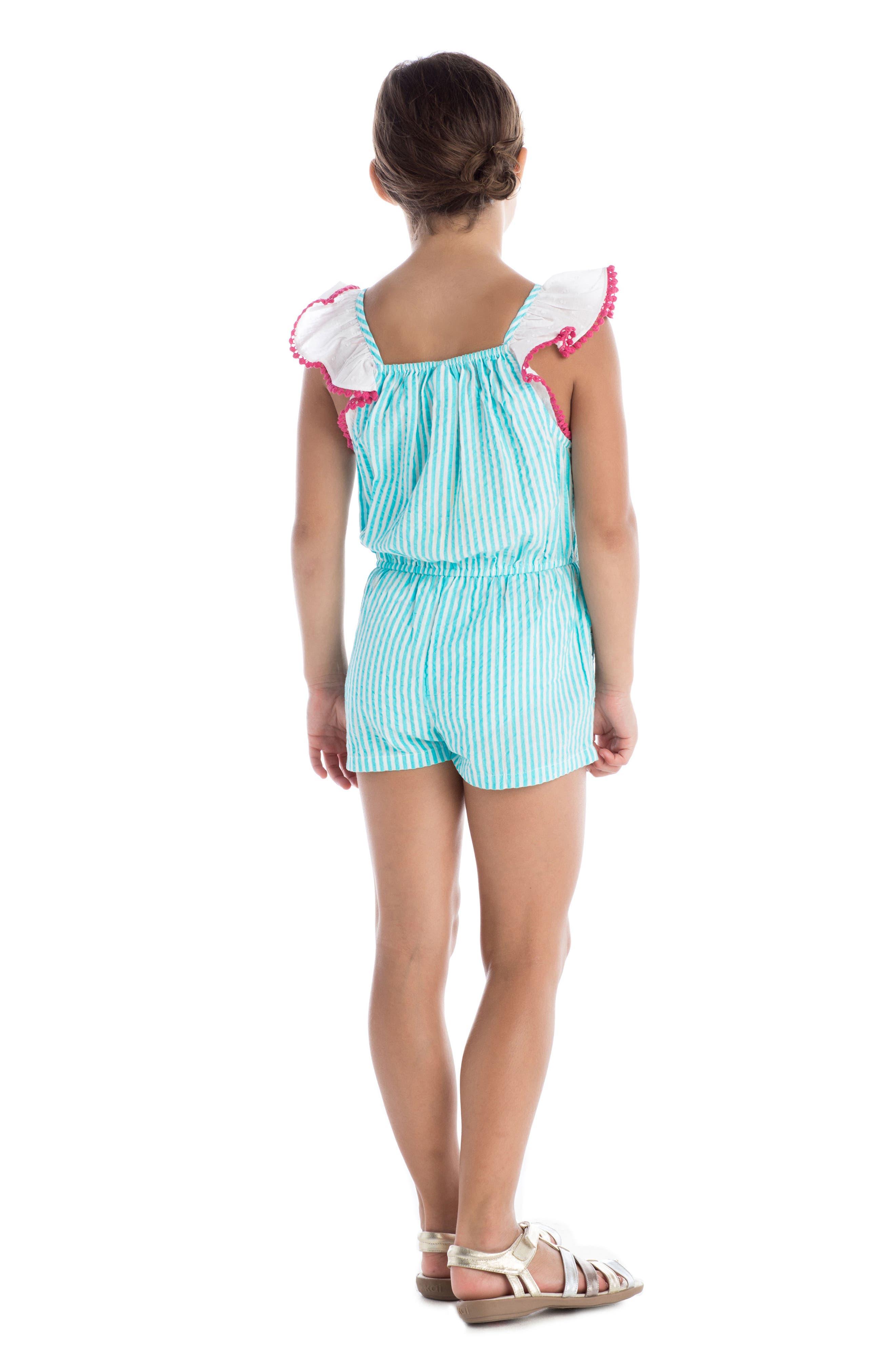 Alternate Image 3  - Masala Baby Zuri Stripe Romper (Toddler Girls, Little Girls & Big Girls)