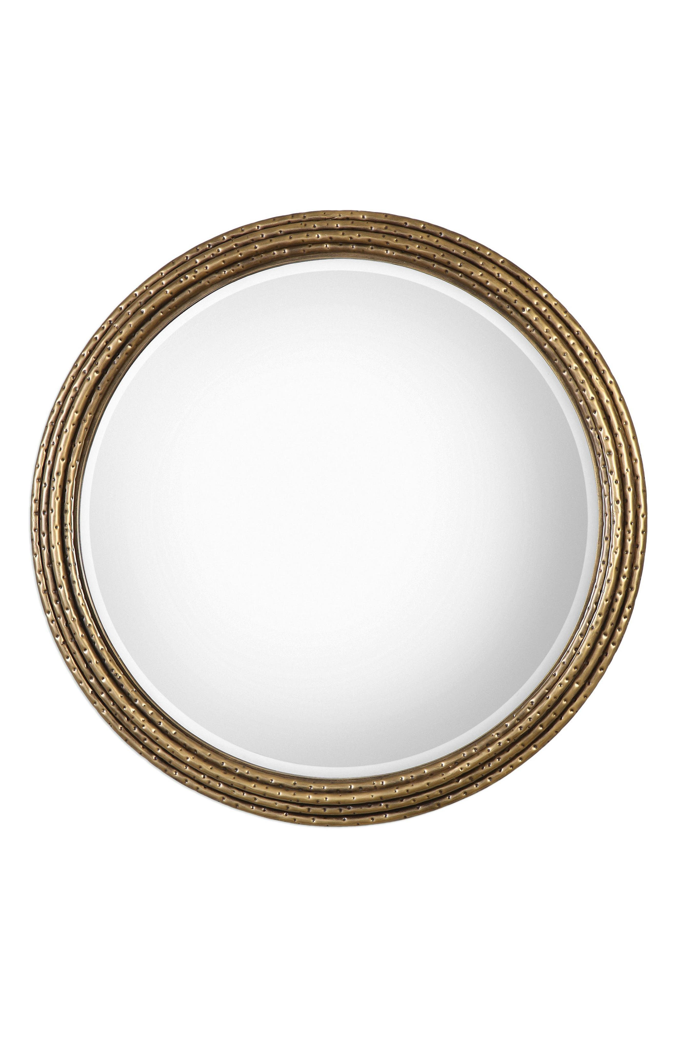Spera Wall Mirror,                         Main,                         color, Brown