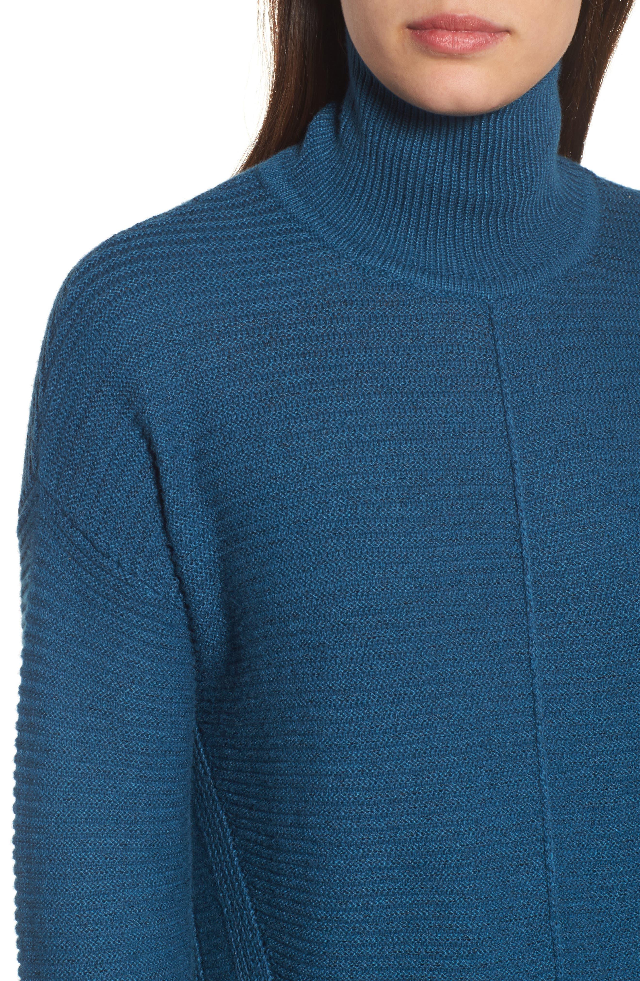 Alternate Image 4  - Caslon® Ribbed Turtleneck Tunic Sweater