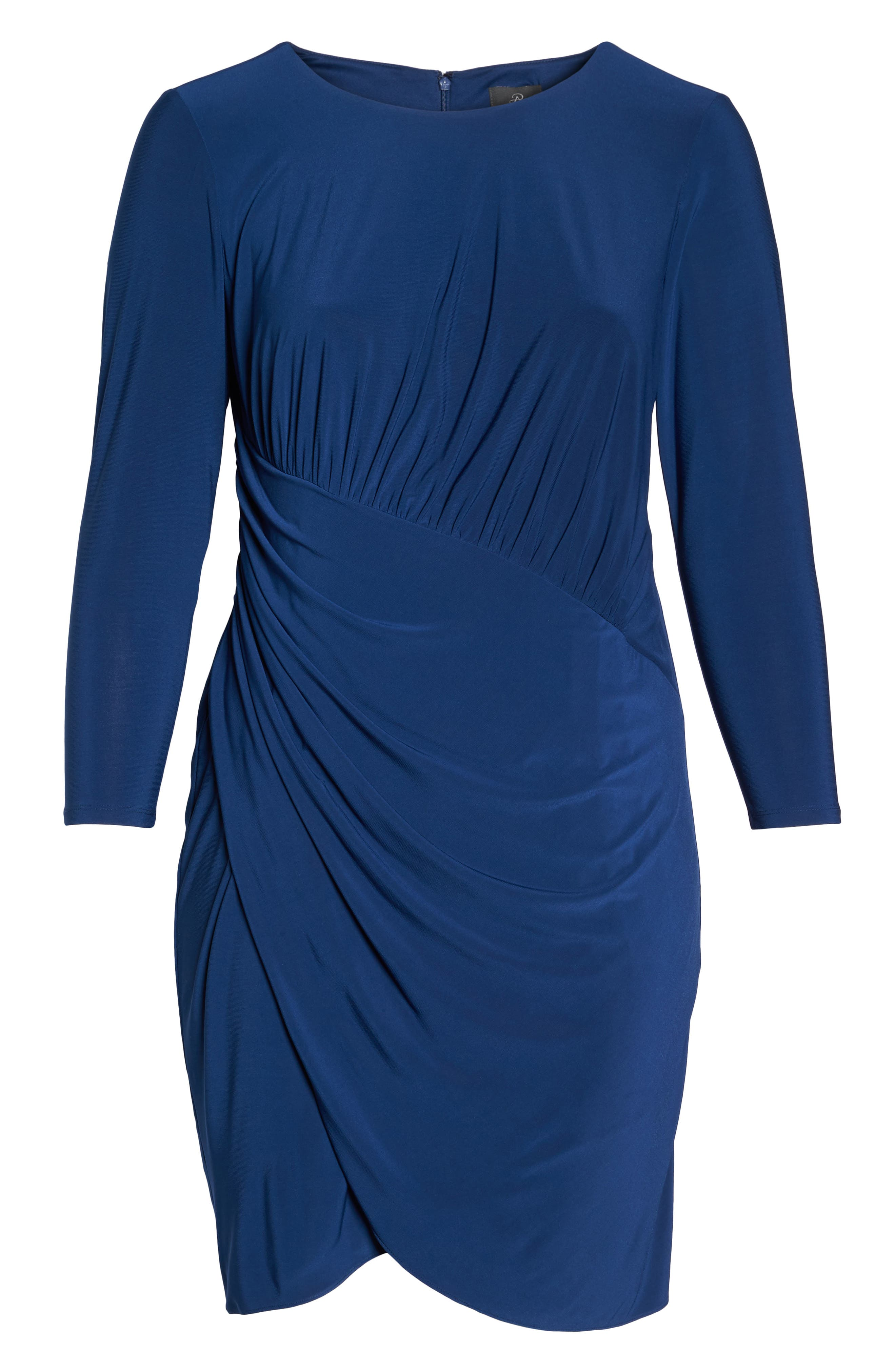 Alternate Image 6  - Adrianna Papell Faux Wrap Jersey Dress (Plus Size)