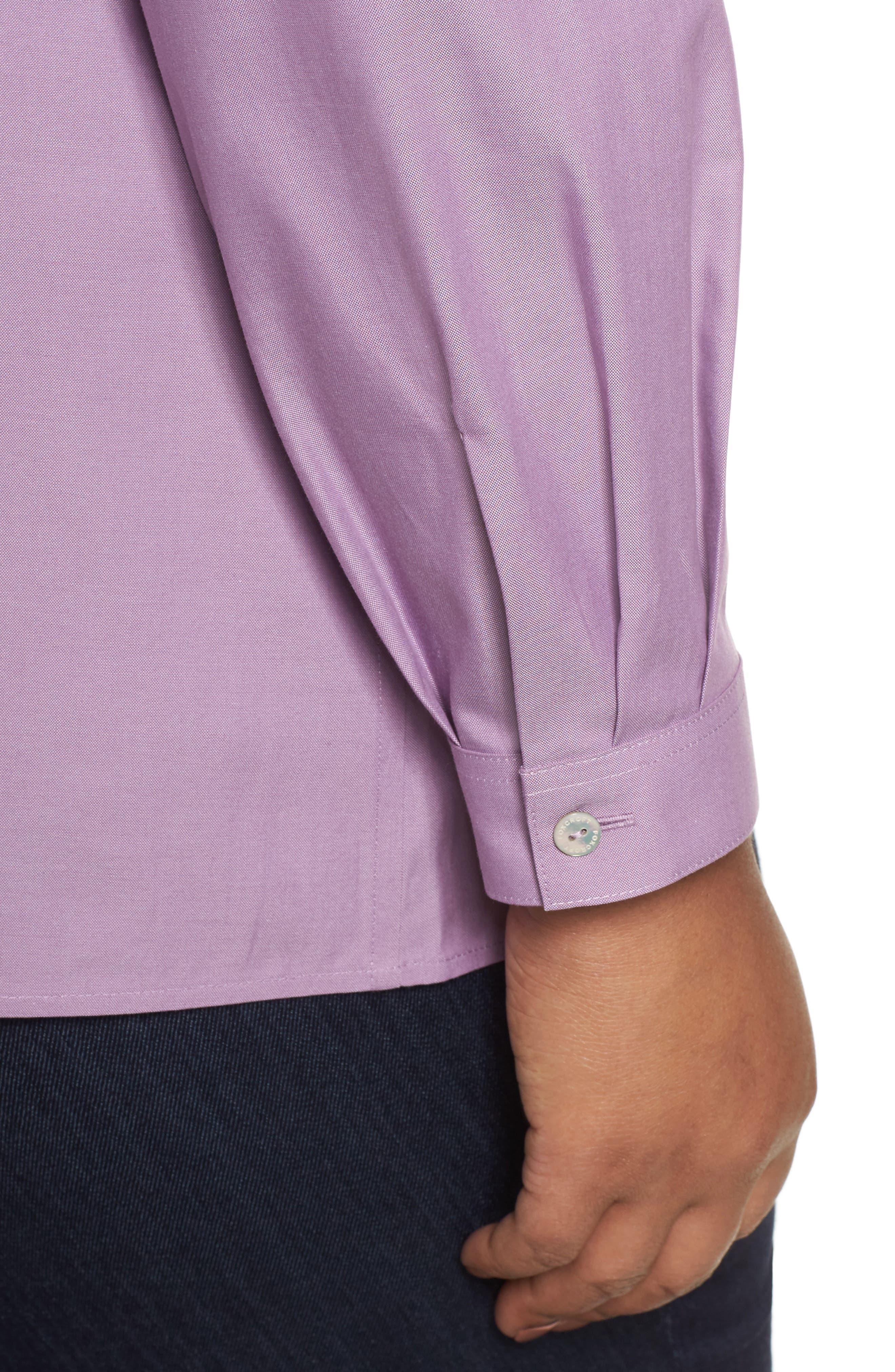 Pinpoint Oxford Cloth Shirt,                             Alternate thumbnail 4, color,                             Mauve