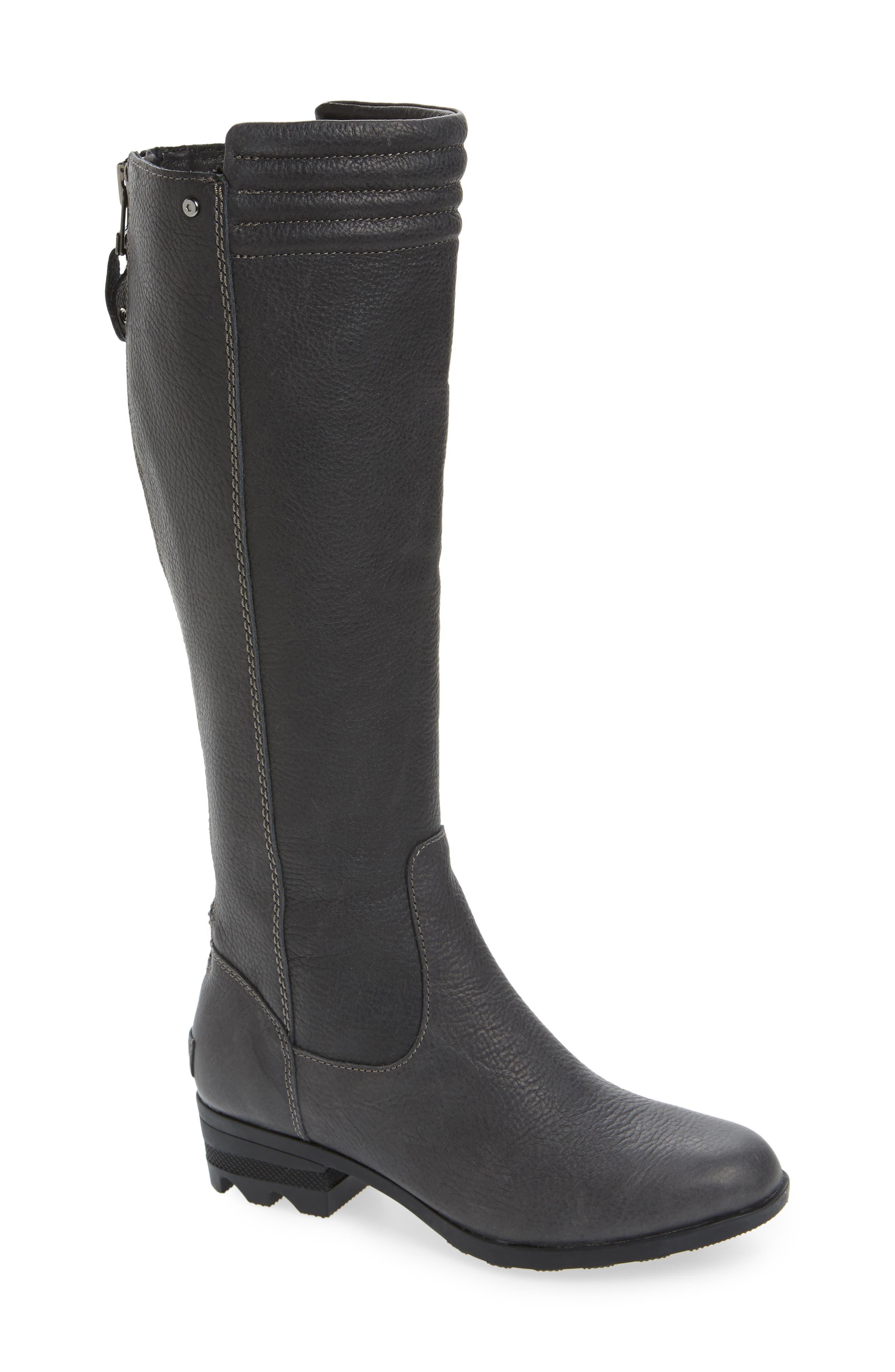 Danica Waterproof Knee High Boot,                             Main thumbnail 1, color,                             Quarry/ Black