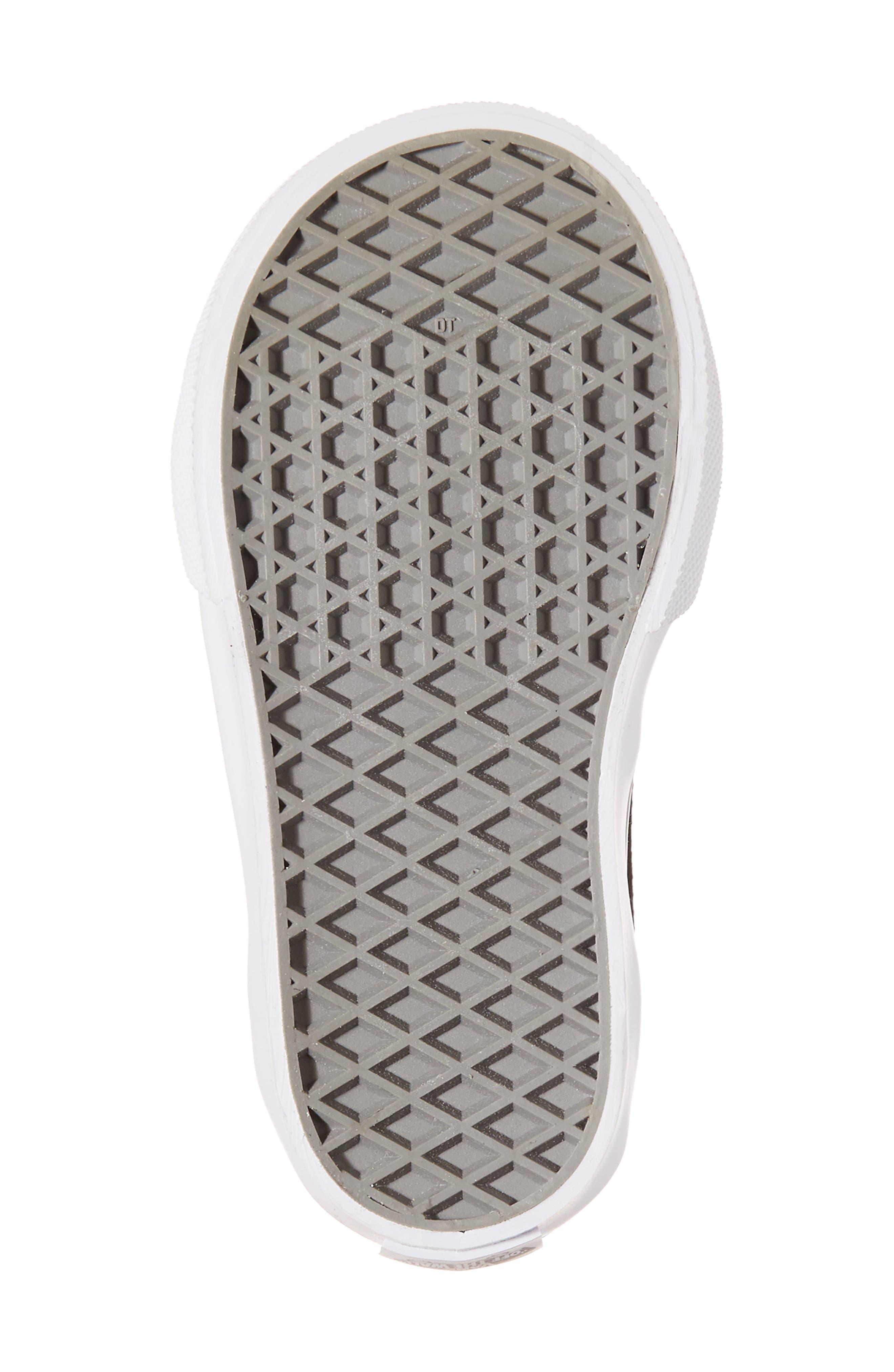 Old Skool V Glitter Sneaker,                             Alternate thumbnail 6, color,                             Glitter  Metallic Frost Gray