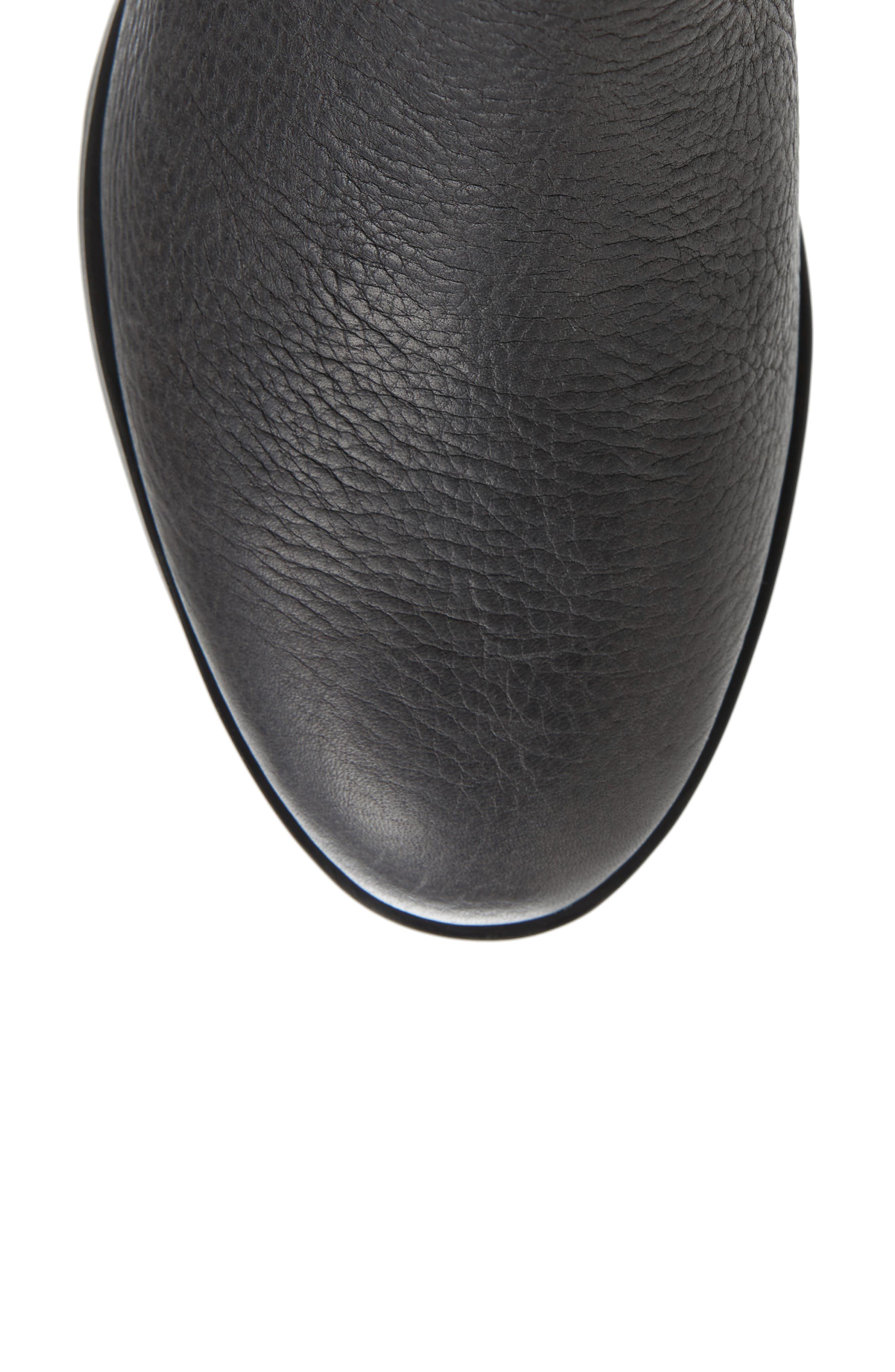 Danica Waterproof Knee High Boot,                             Alternate thumbnail 5, color,                             Quarry/ Black