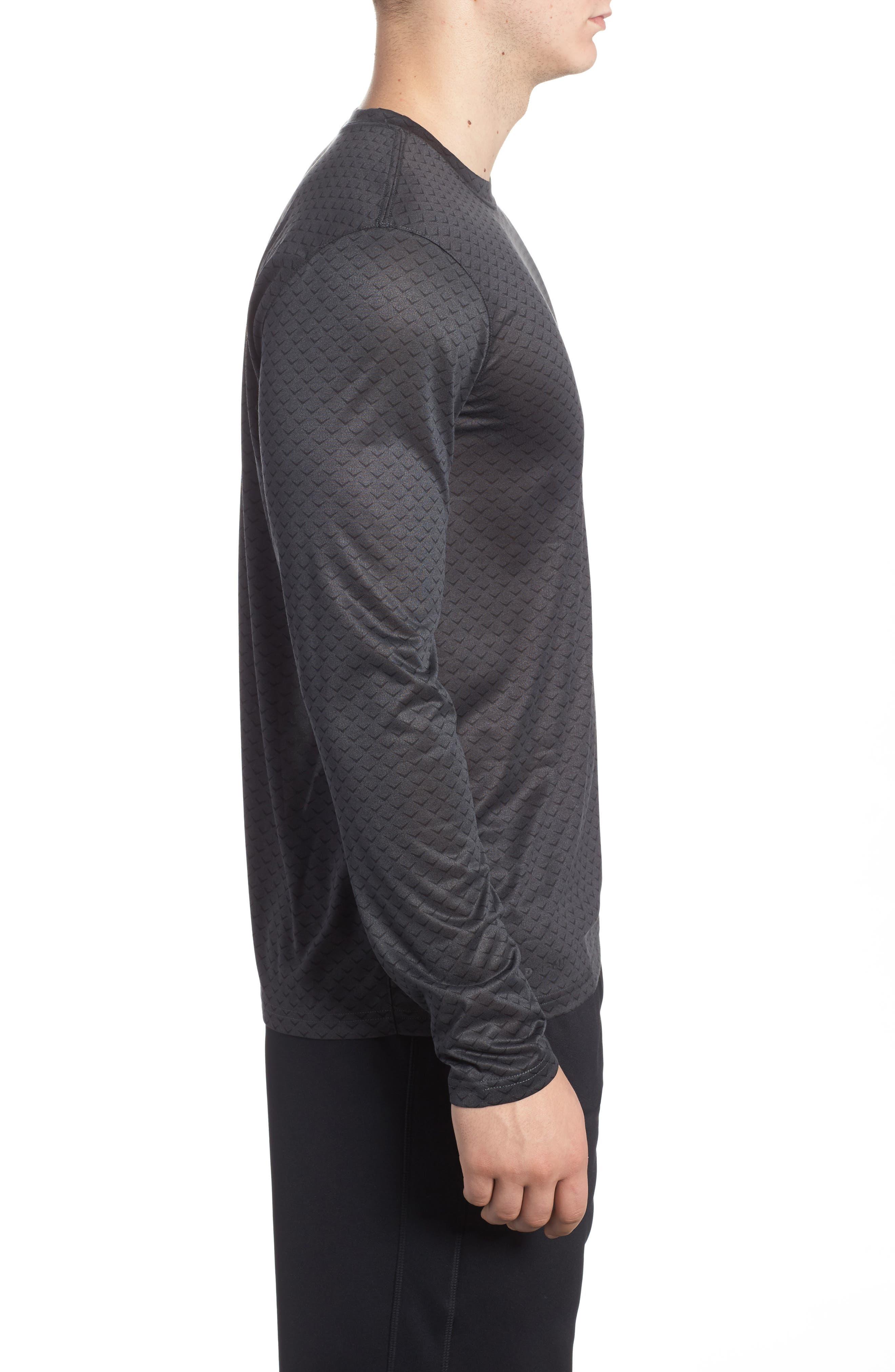 Dry Legend Training T-Shirt,                             Alternate thumbnail 3, color,                             Anthracite/ White