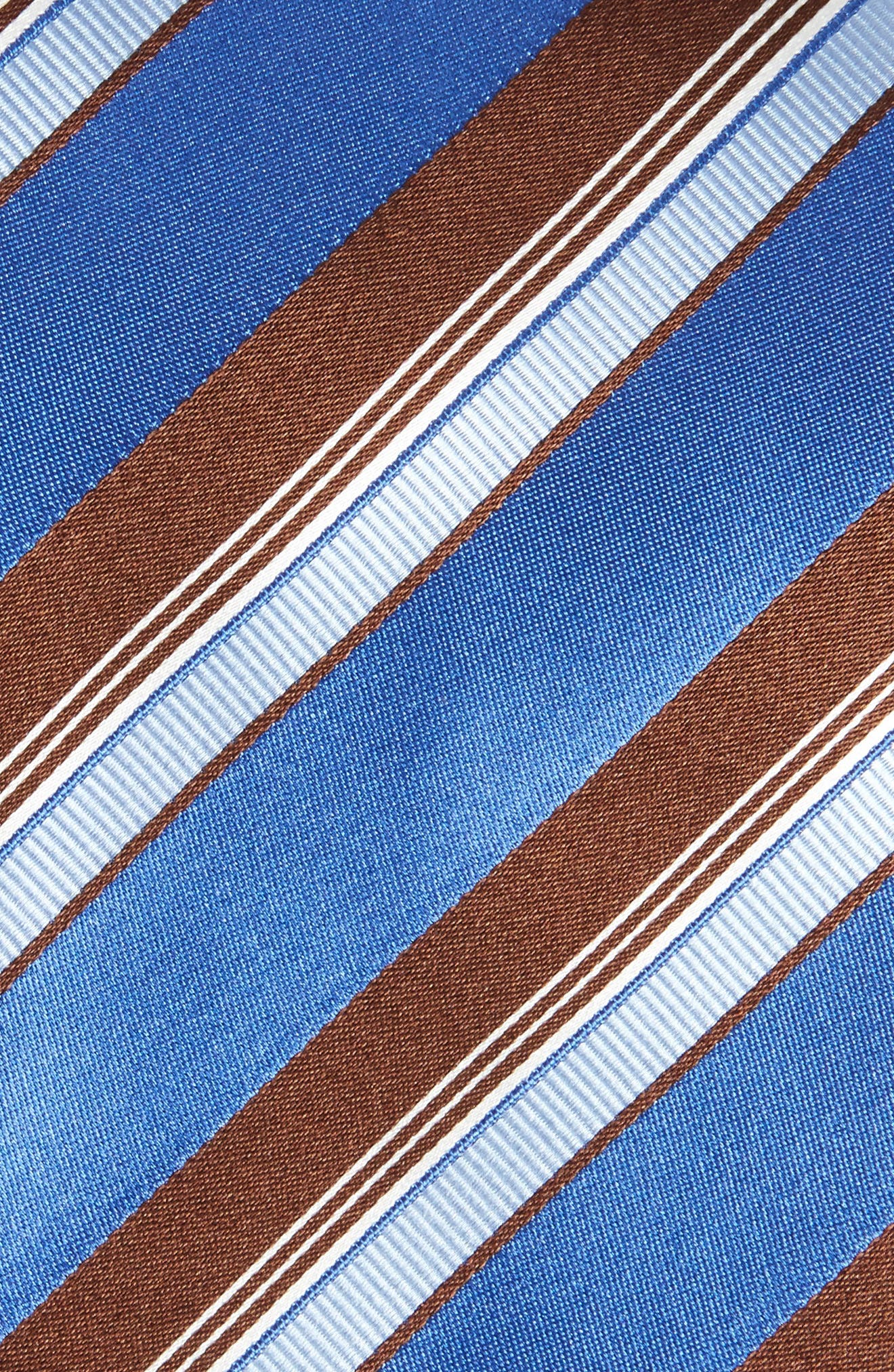 Stripe Silk Tie,                             Alternate thumbnail 2, color,                             Medium Blue