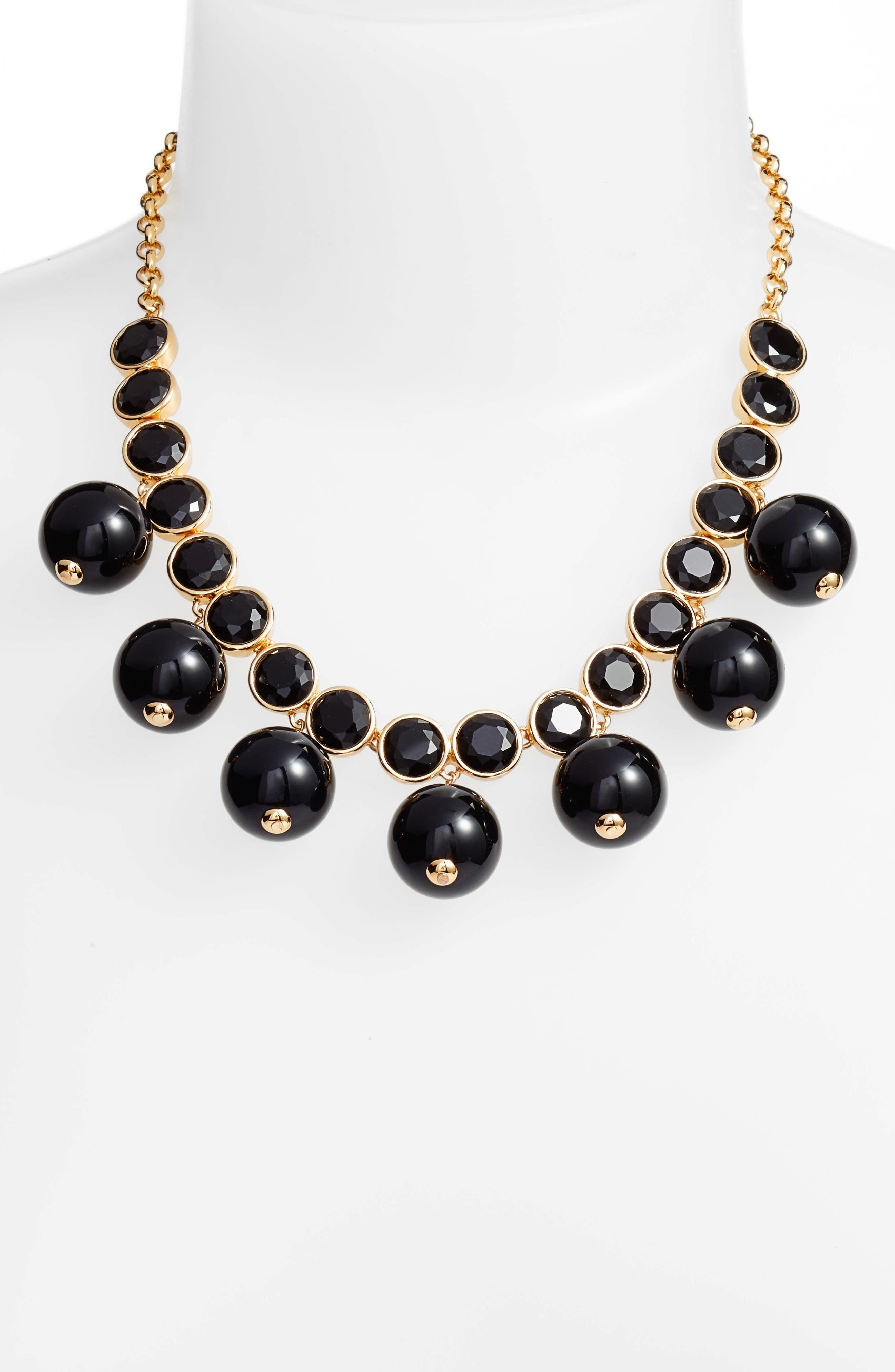 true colors bauble necklace,                             Alternate thumbnail 2, color,                             Jet Multi
