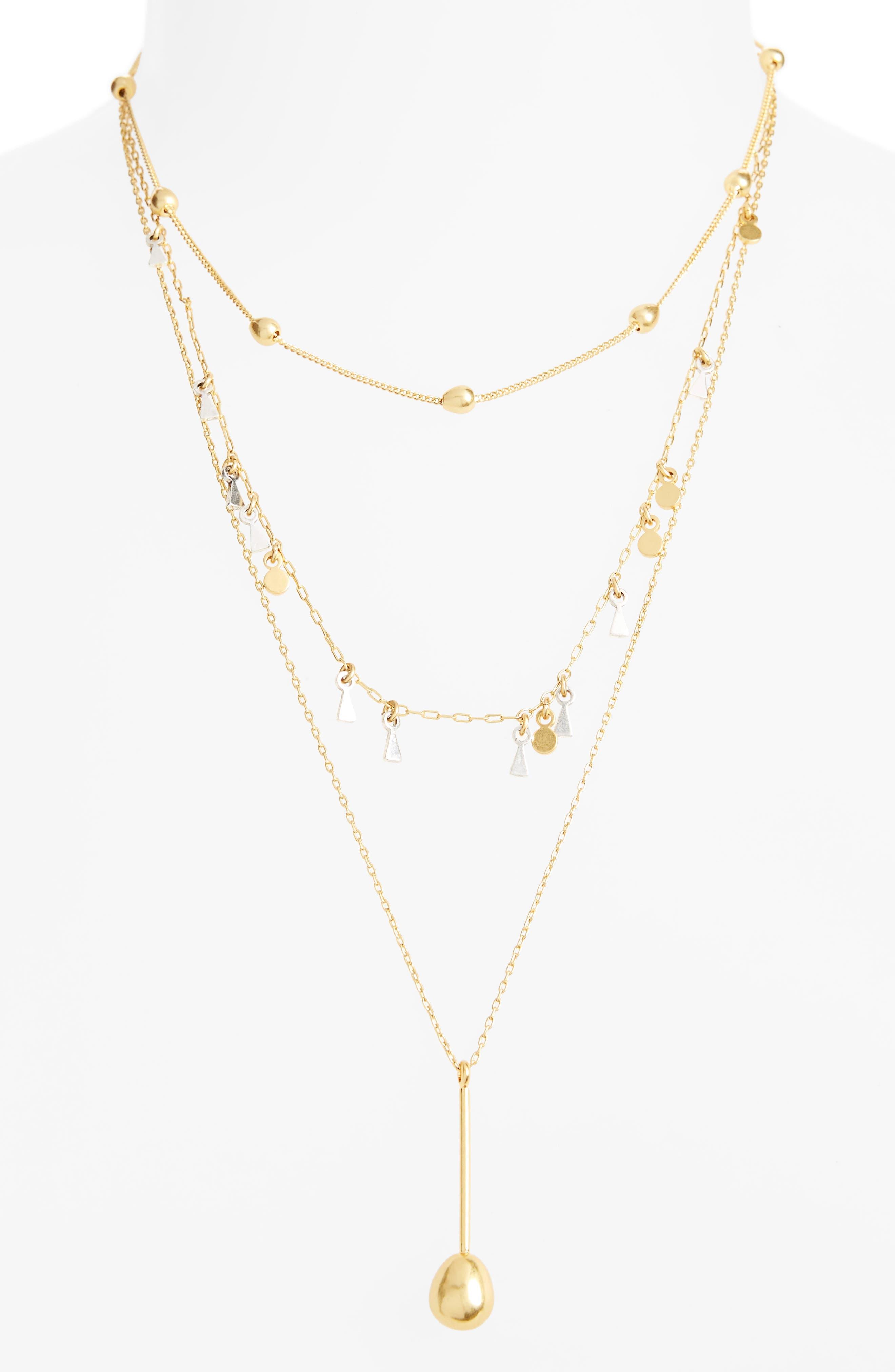 Main Image - Madewell Organic Shape Layered Necklace