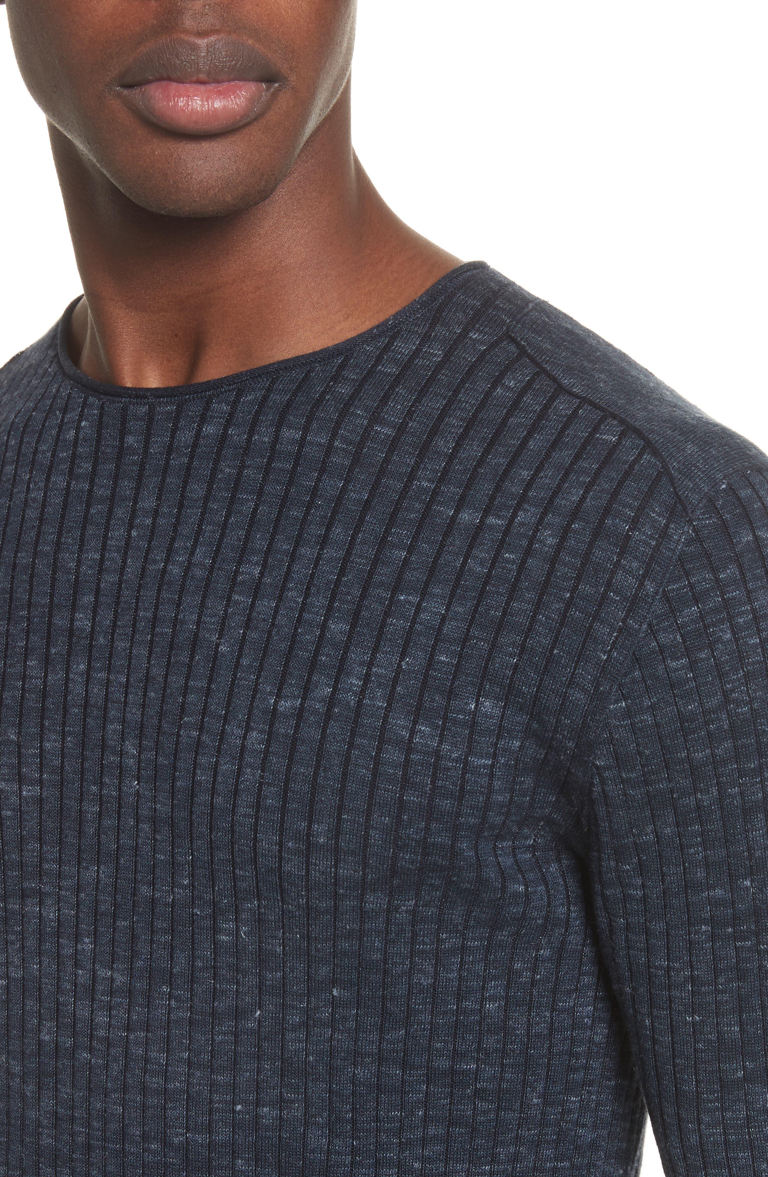 Collection Mélange Stripe Sweater,                             Alternate thumbnail 4, color,                             Eclipse