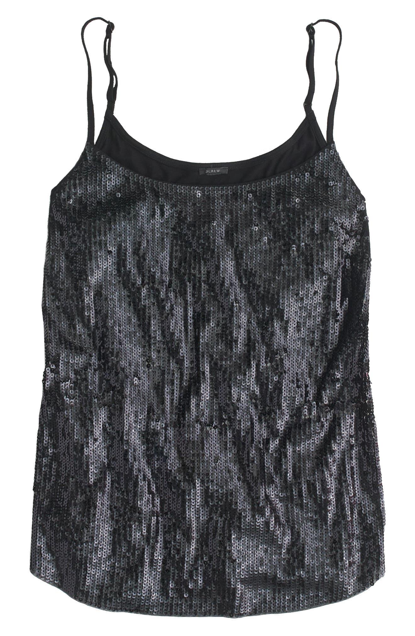 Sequin Cami,                         Main,                         color, Black