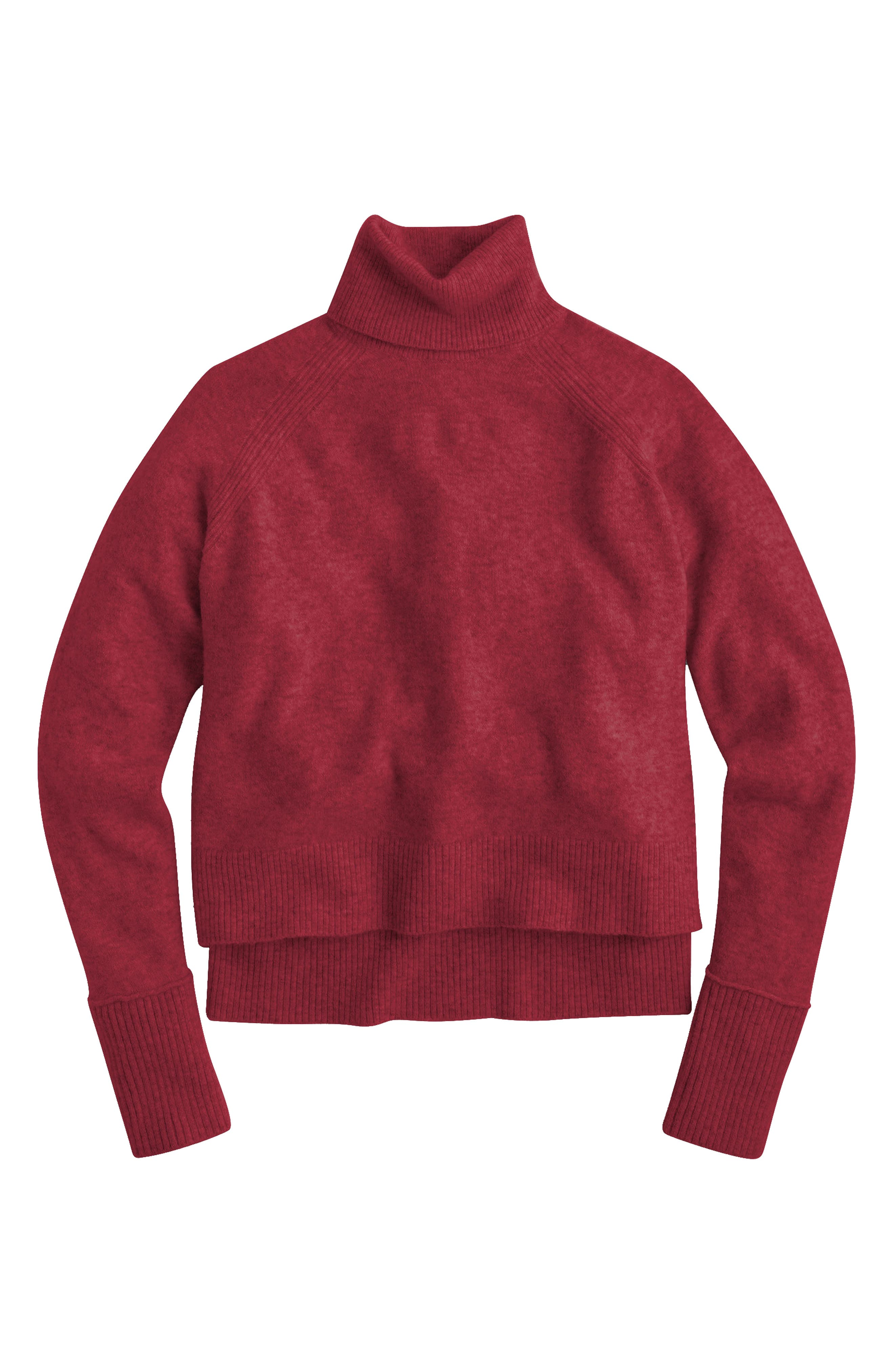 Main Image - J.Crew Side Slit Supersoft Turtleneck Sweater