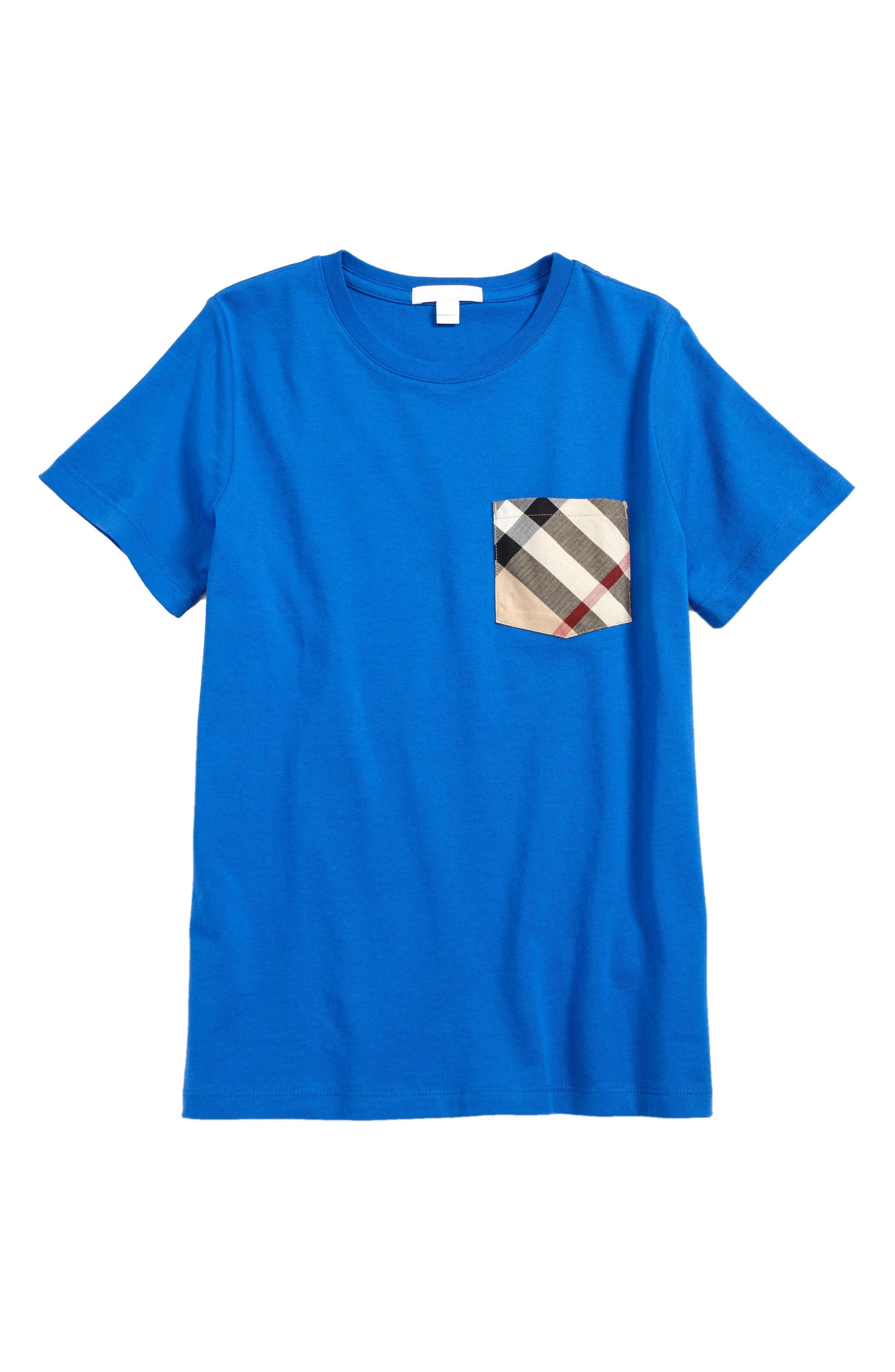Check Pocket Shirt,                         Main,                         color, Cobalt Blue