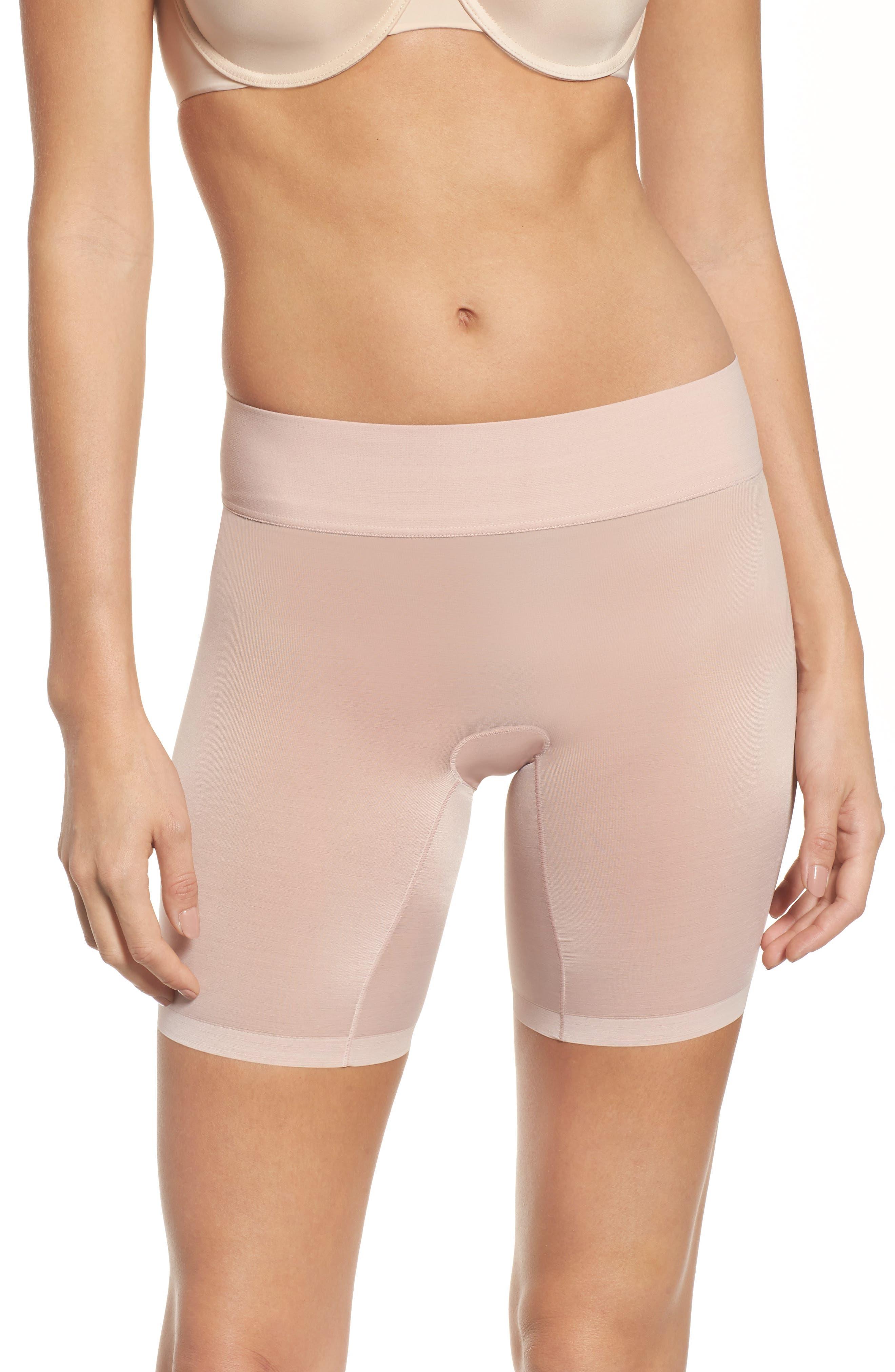 Sheer Touch Control Shorts,                             Main thumbnail 1, color,                             Rosepowder