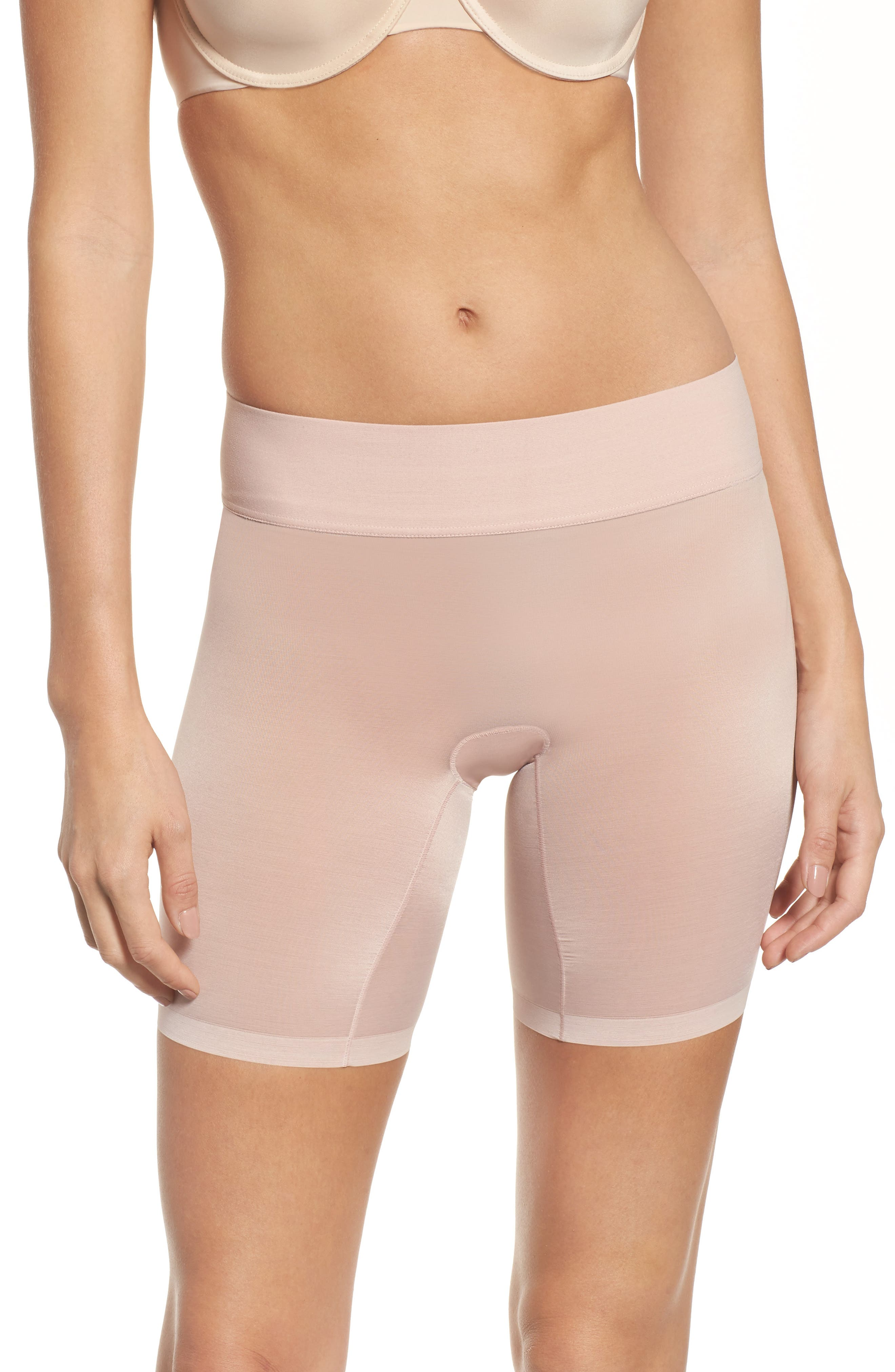 Sheer Touch Control Shorts,                         Main,                         color, Rosepowder