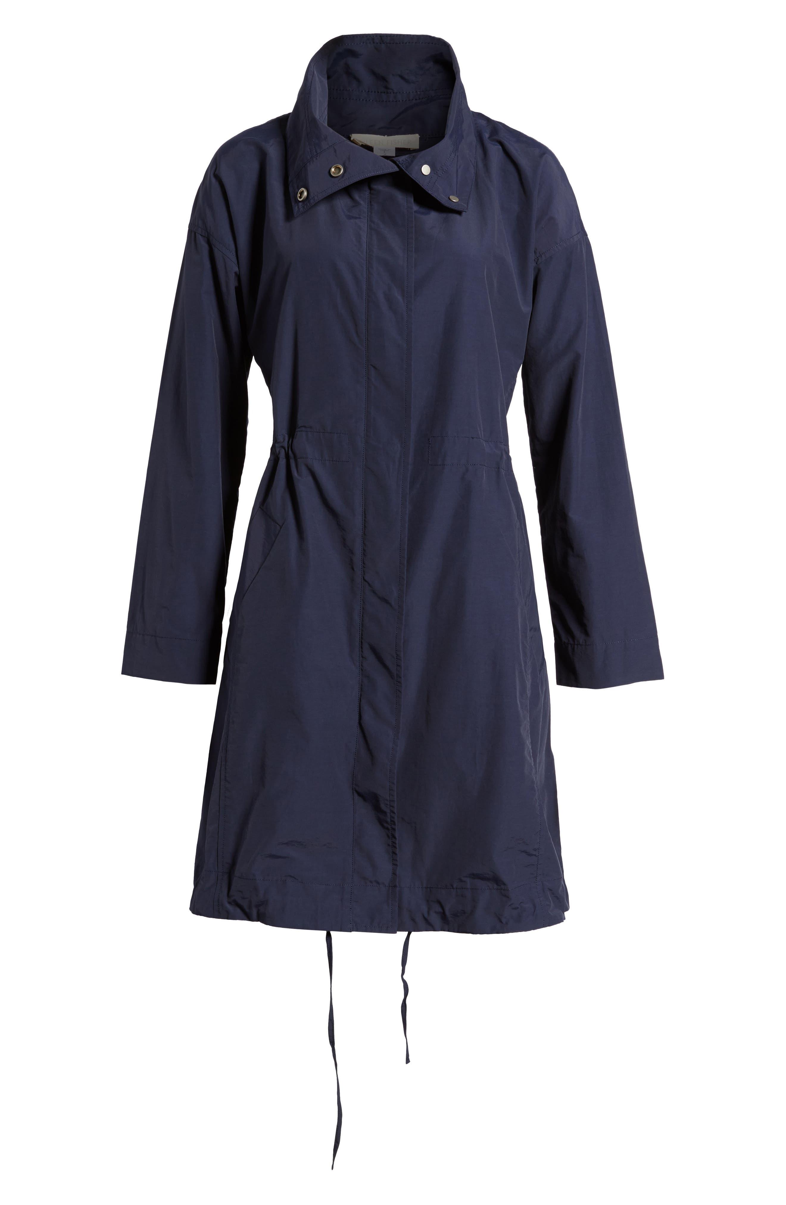 Alternate Image 6  - Eileen Fisher High Collar Long Jacket