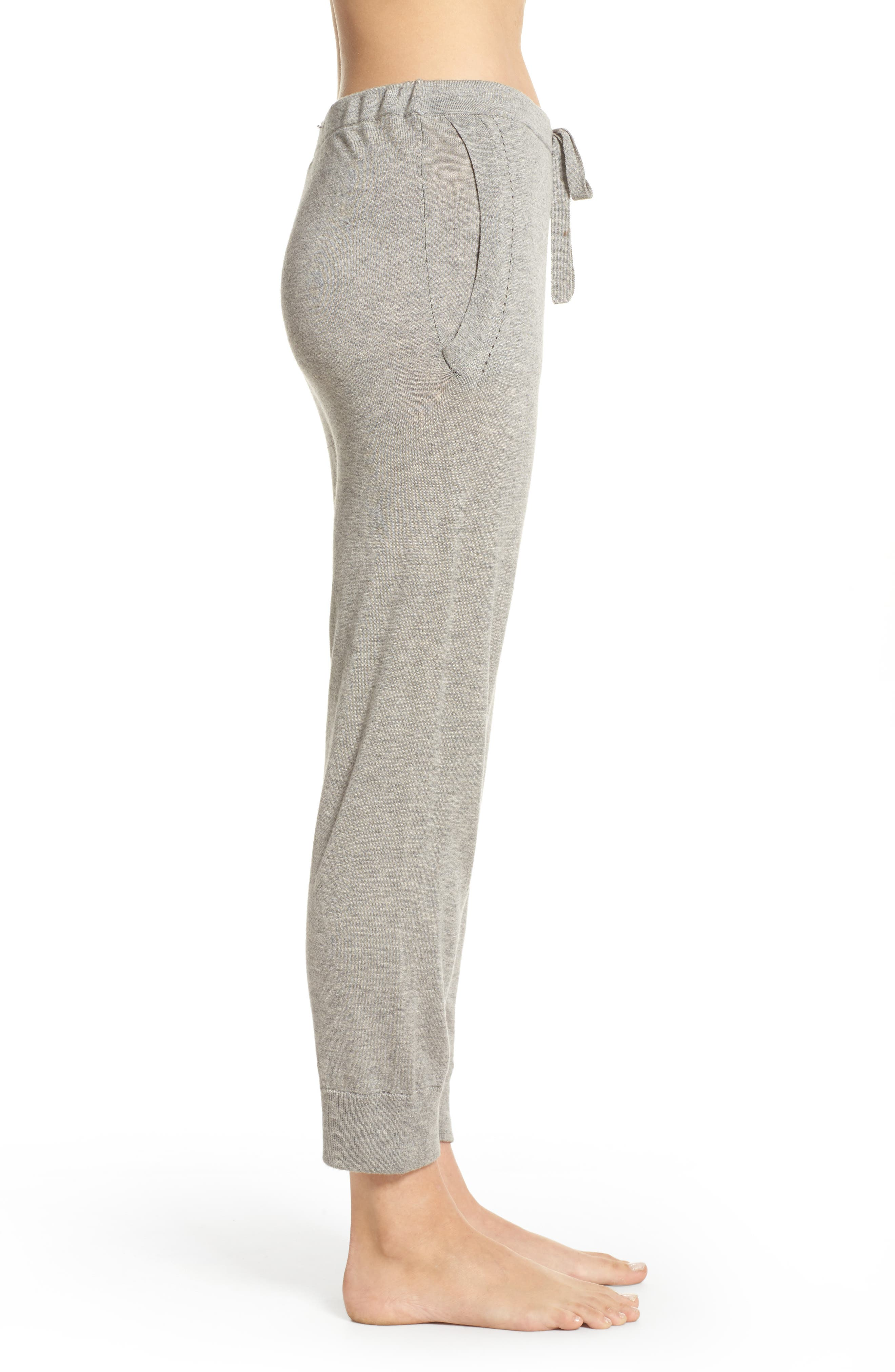 Myla Lounge Pants,                             Alternate thumbnail 3, color,                             Heather Grey