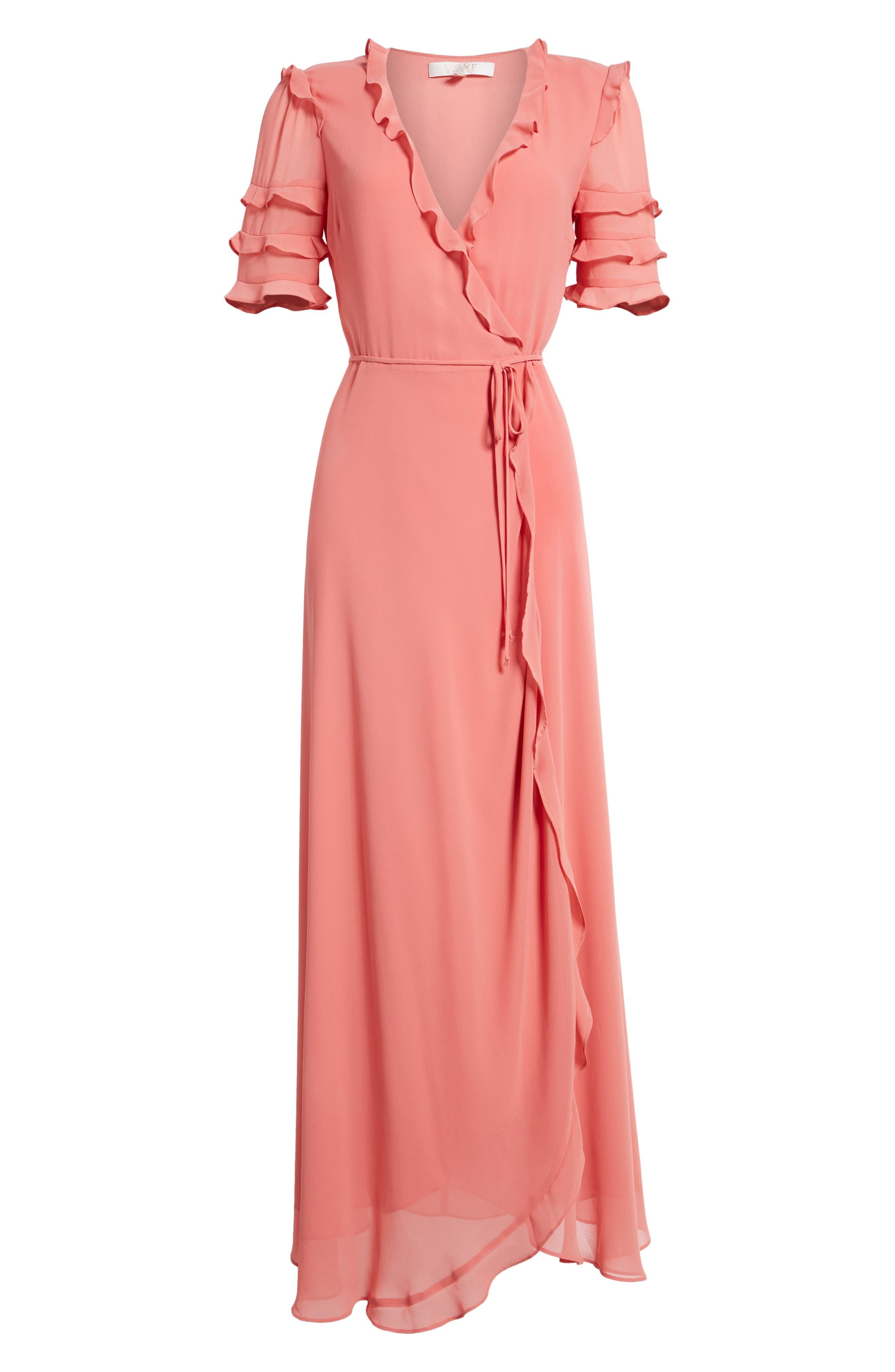 Alternate Image 6  - WAYF Ruffle Wrap Gown