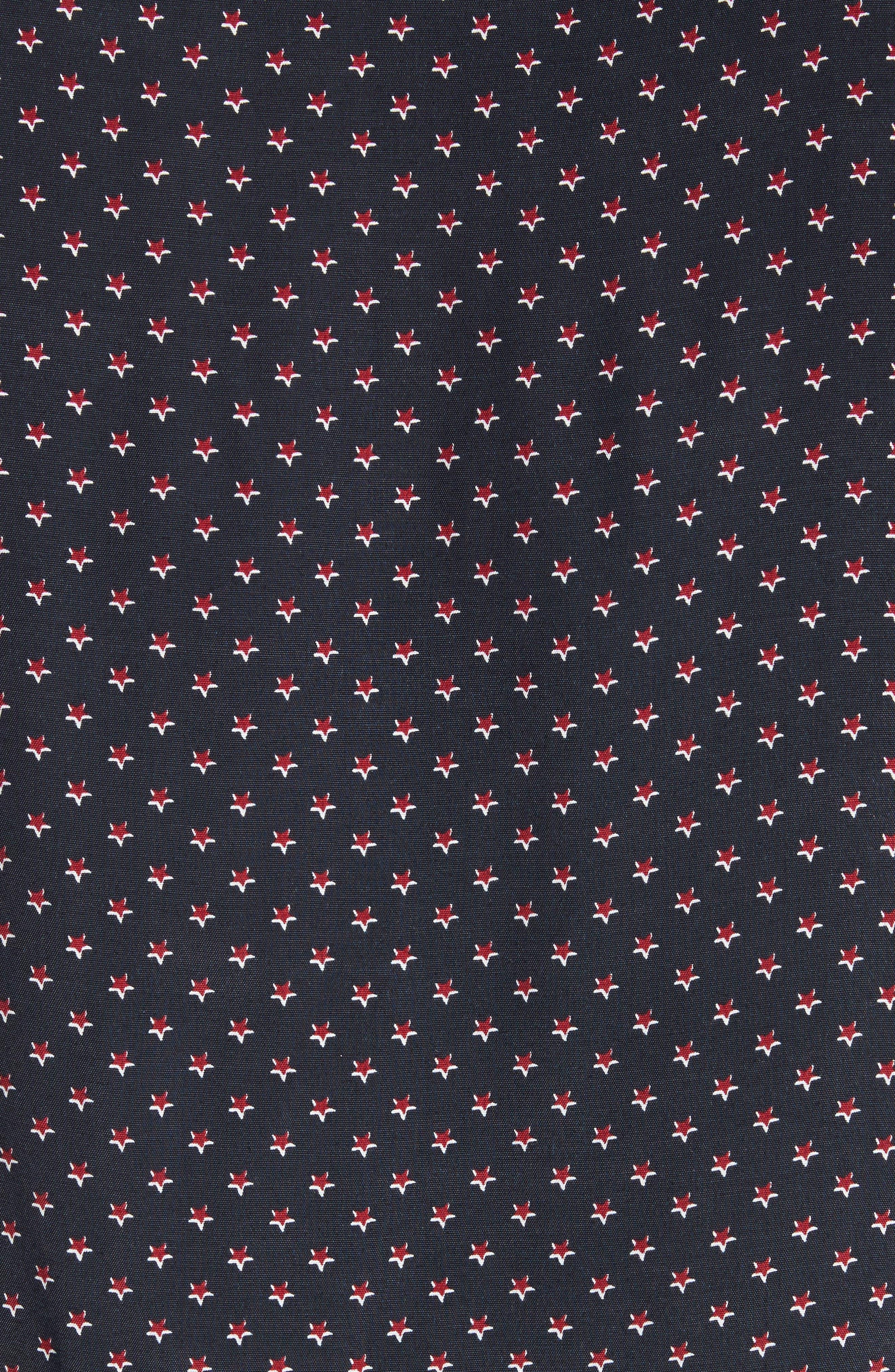 Star Print Shirt,                             Alternate thumbnail 5, color,                             Navy