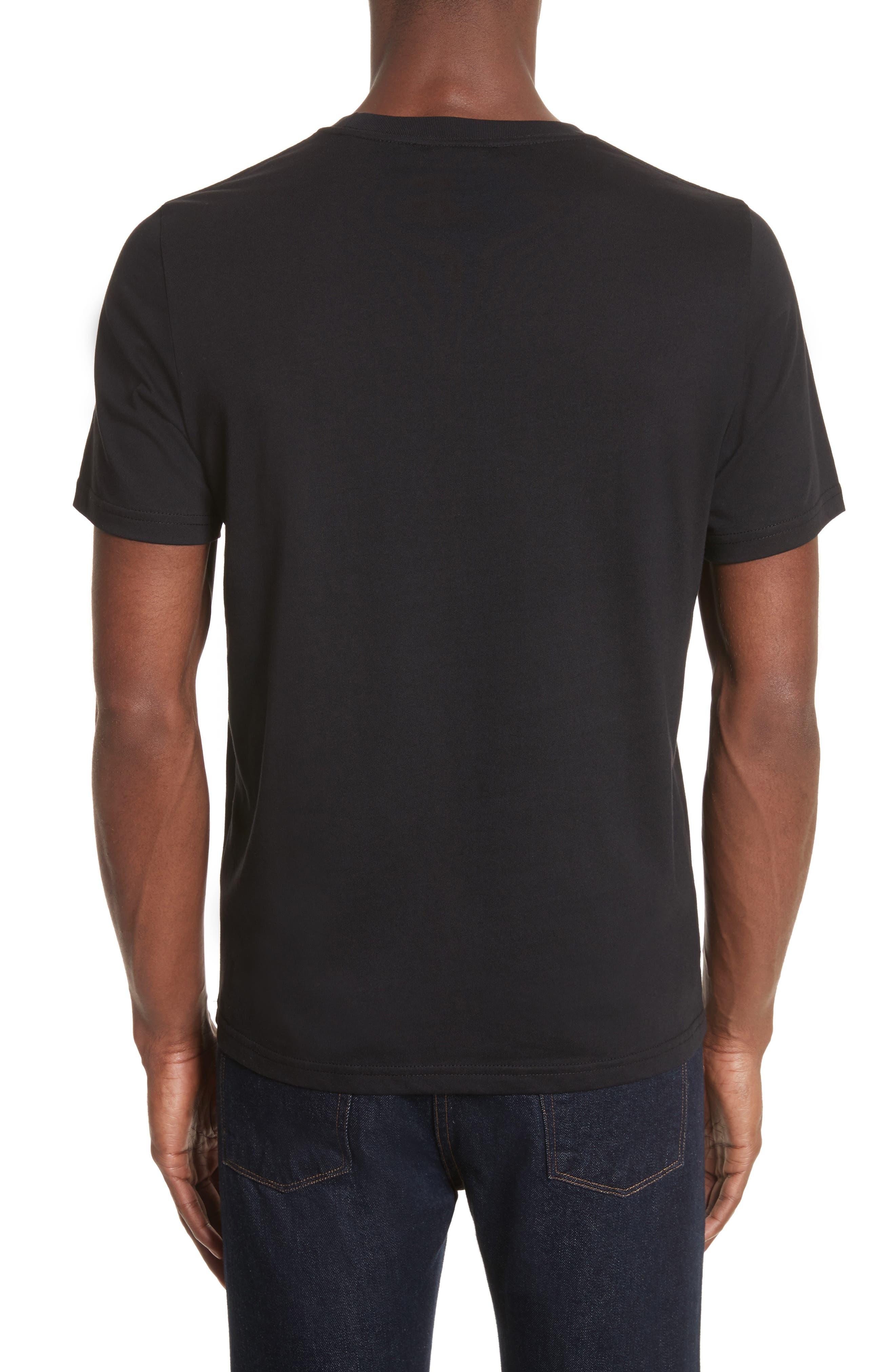 Embroidered Zebra T-Shirt,                             Alternate thumbnail 2, color,                             Black