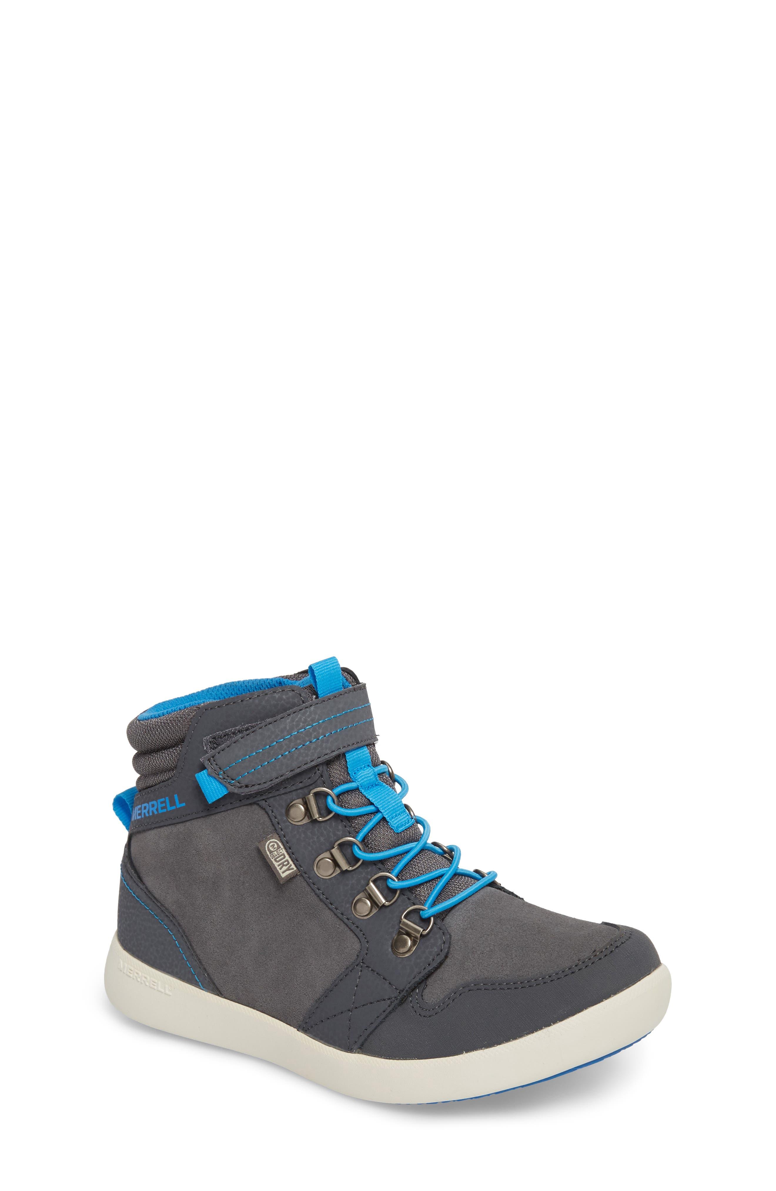 Freewheel Mid Top Waterproof Sneaker Boot,                         Main,                         color, Grey