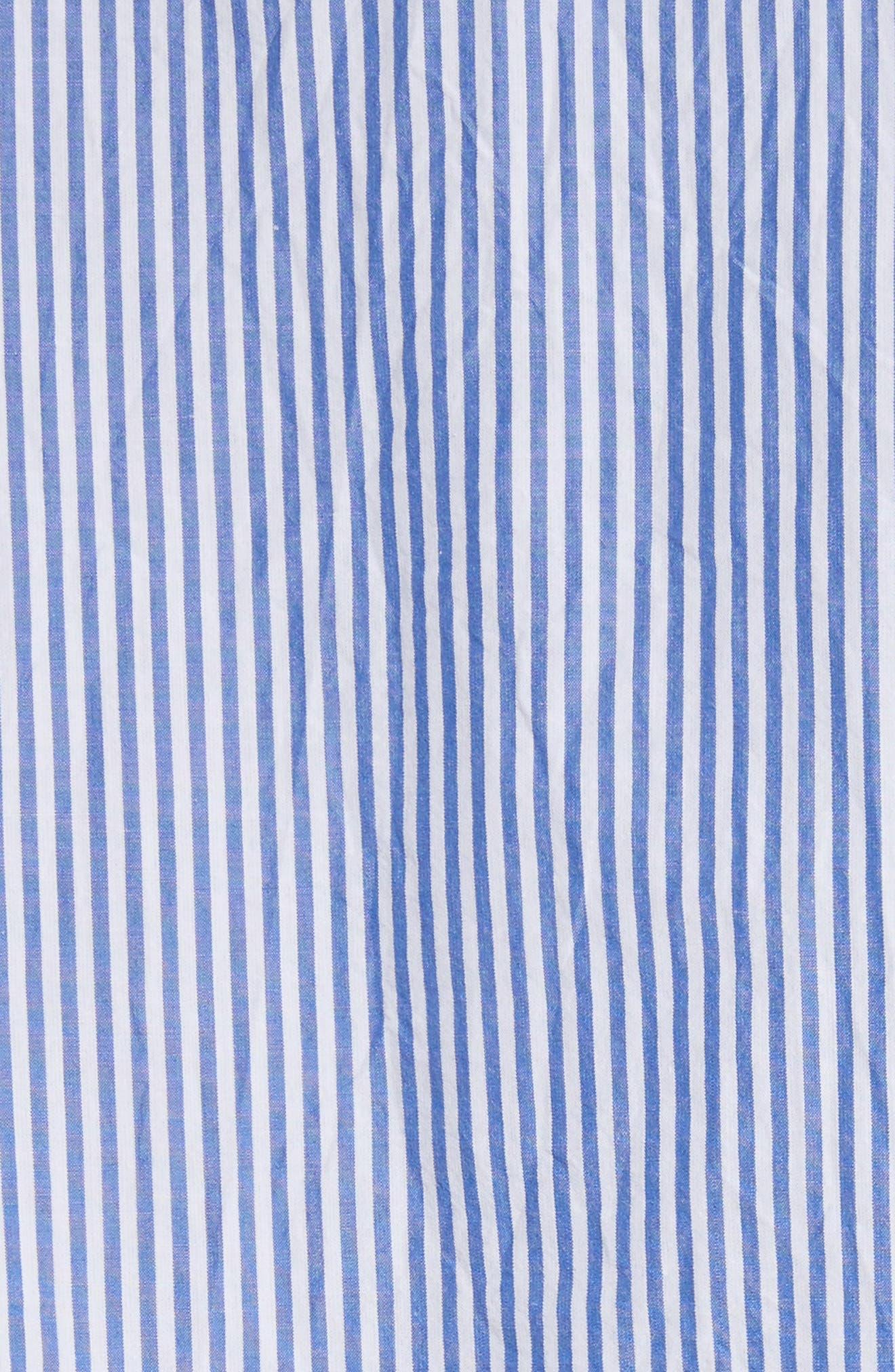 Stripe Seersucker Camp Shirt,                             Alternate thumbnail 5, color,                             41 Blue Multi