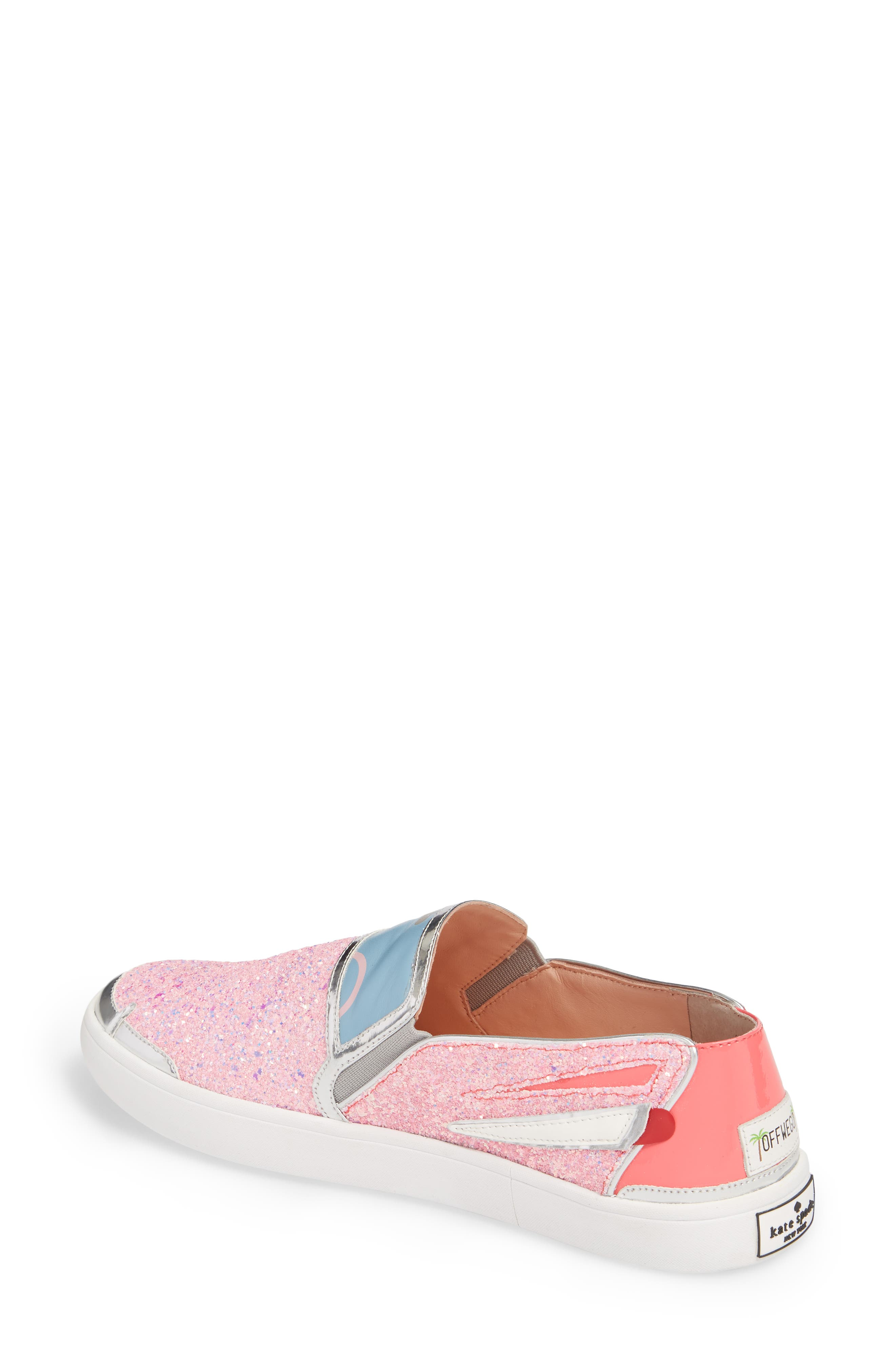 Lotus Slip-On Sneaker,                             Alternate thumbnail 2, color,                             Pink