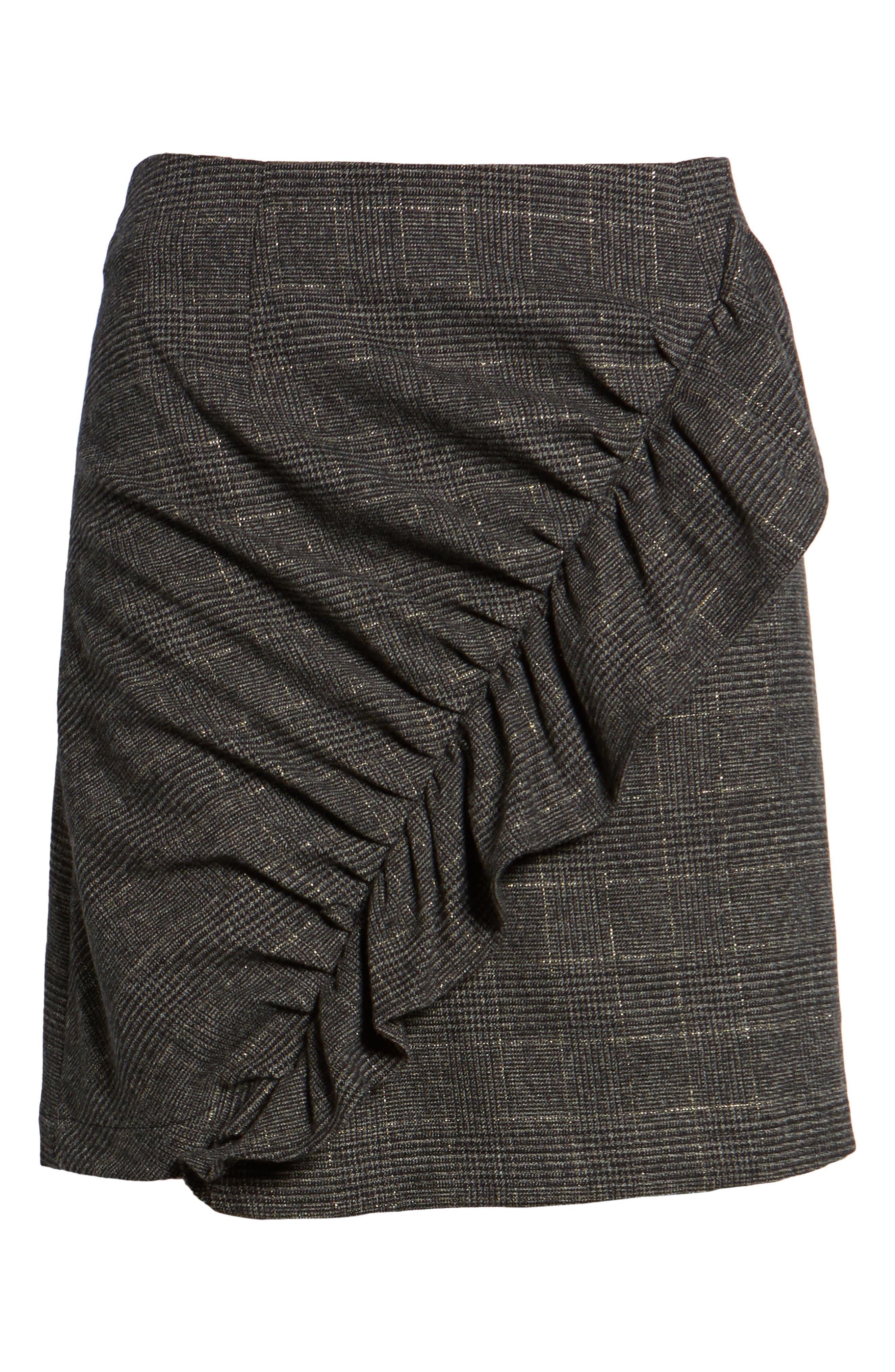 Alternate Image 6  - BP. Glen Plaid Ruched Ruffle Skirt