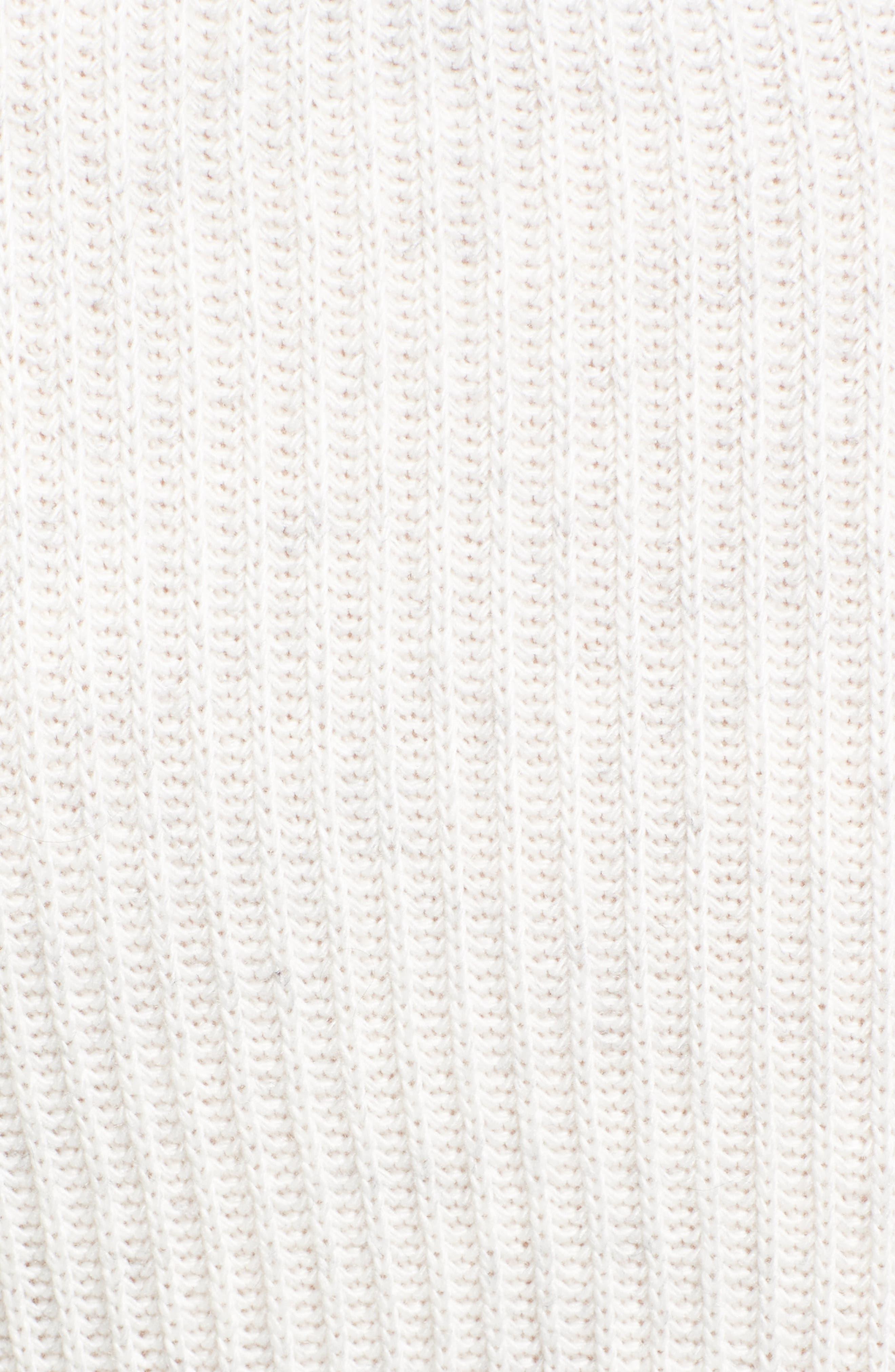 Chavi Tie Waist Sweater,                             Alternate thumbnail 5, color,                             Heather Ash