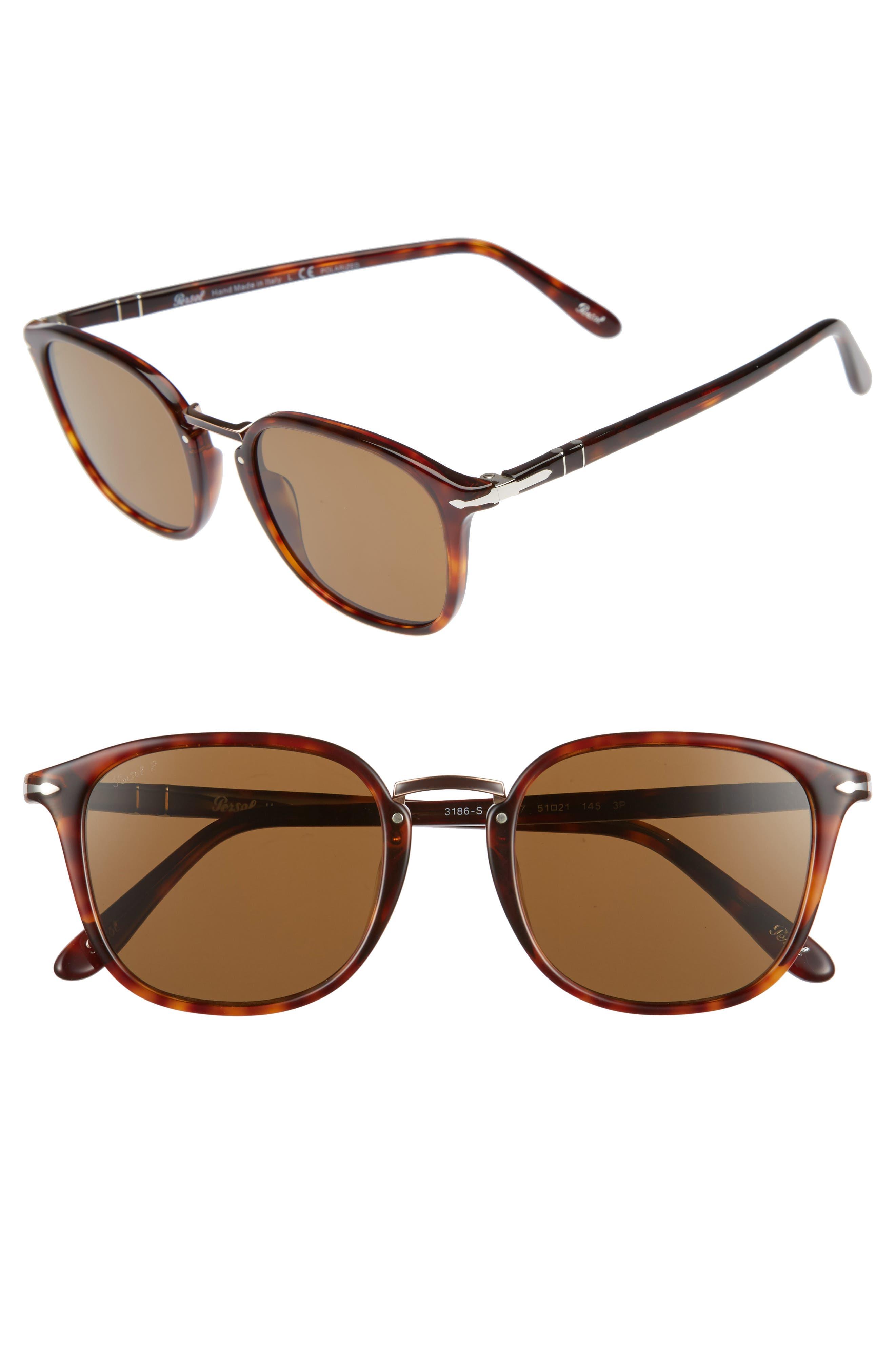 Phantos 51mm Polarized Sunglasses,                         Main,                         color, Tortoise Polarized