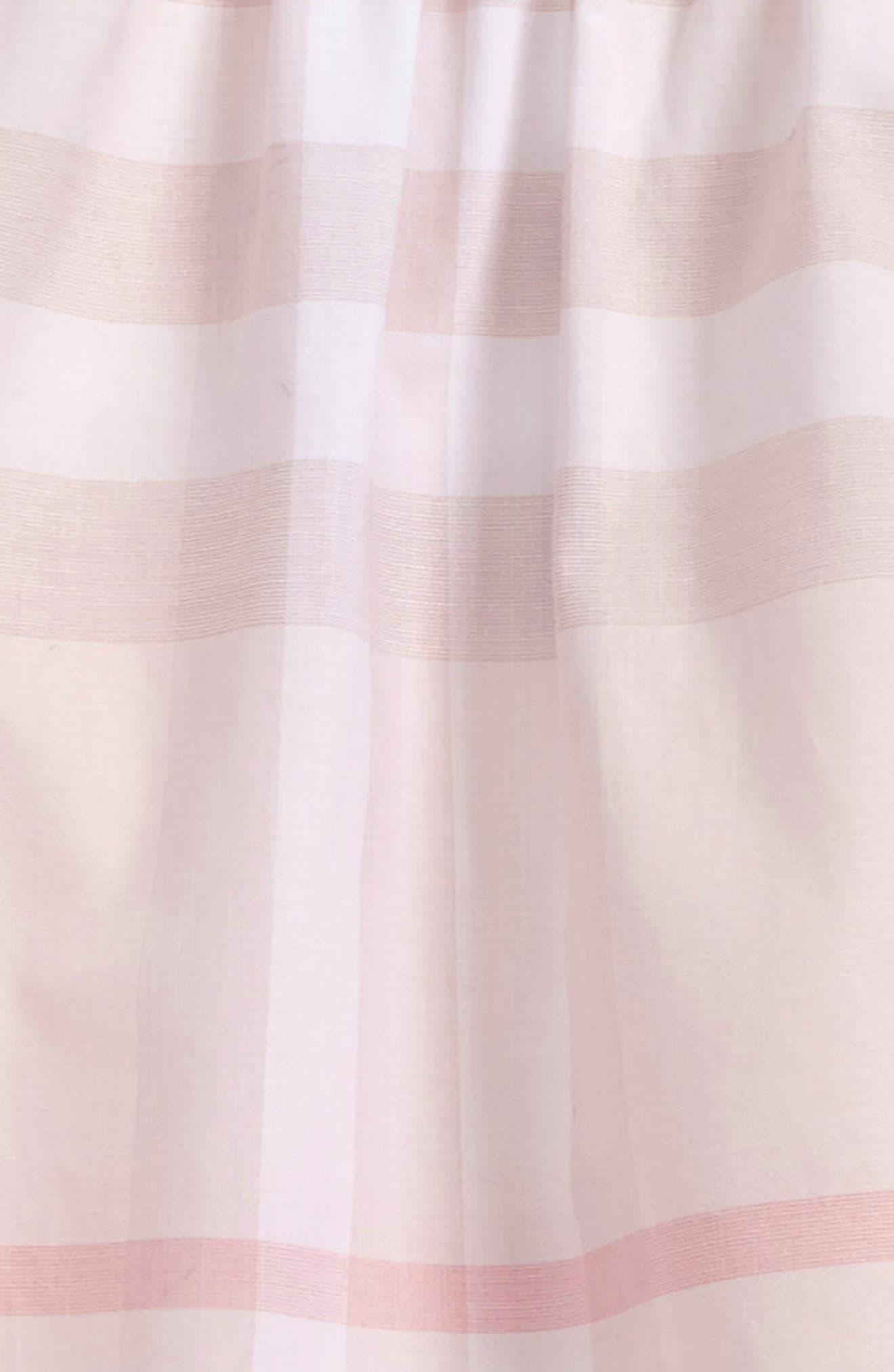 Emerald Check Print Dress,                             Alternate thumbnail 2, color,                             Ice Pink