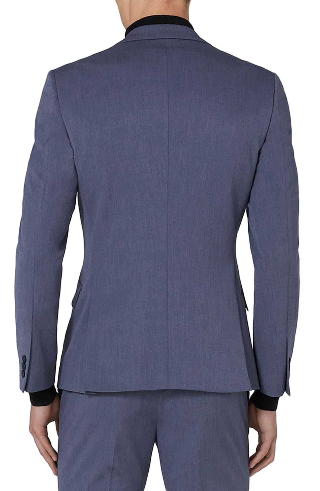 Muscle Fit Suit Jacket,                             Alternate thumbnail 3, color,                             Mid Blue