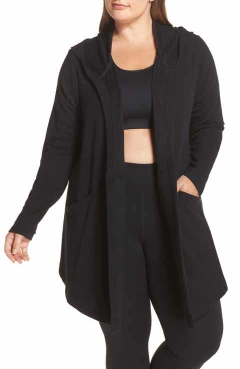 Zella Ria Hooded Cardigan (Plus Size)